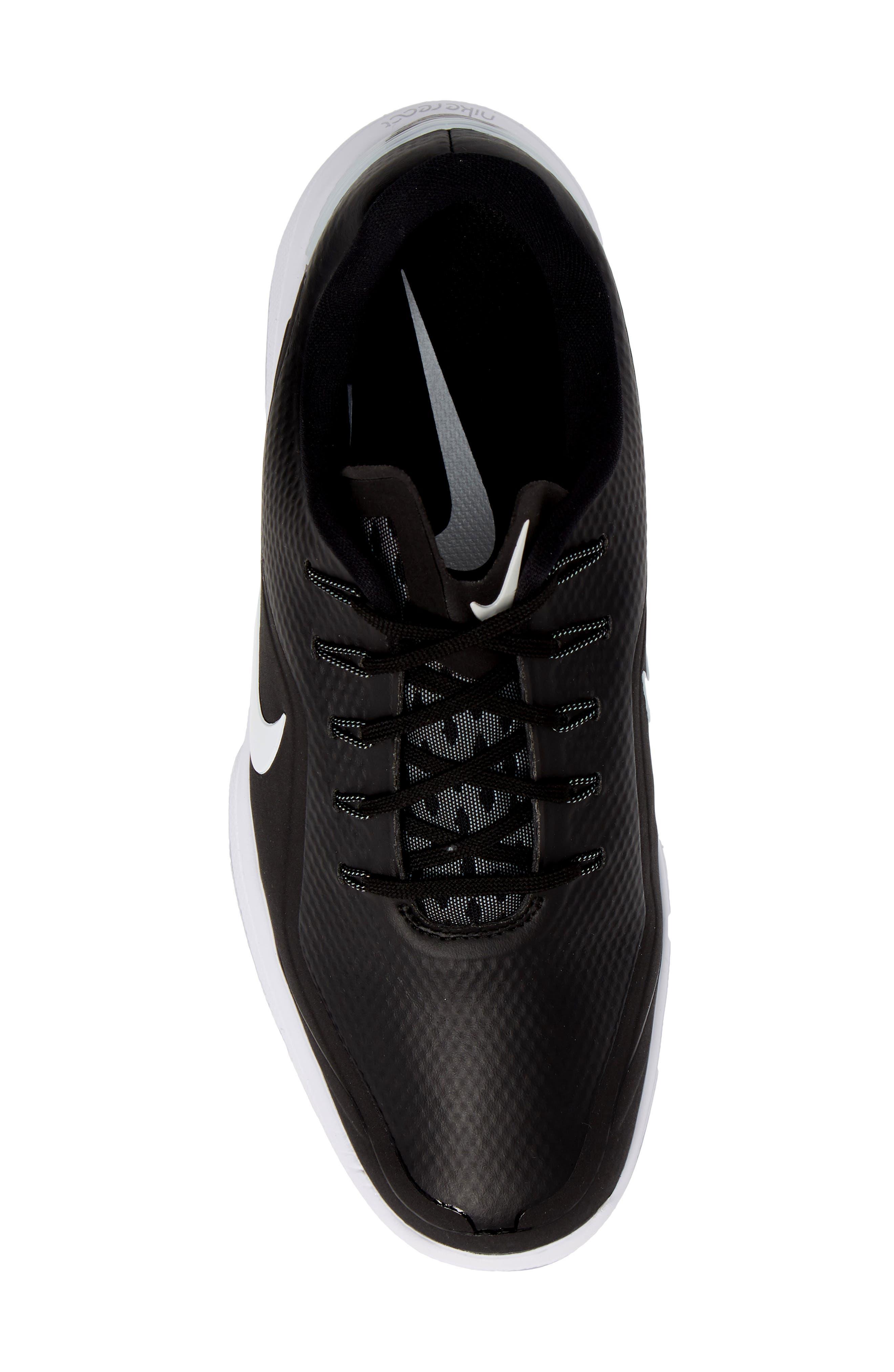 NIKE,                             React Vapor 2 Golf Shoe,                             Alternate thumbnail 5, color,                             BLACK/ METALLIC WHITE