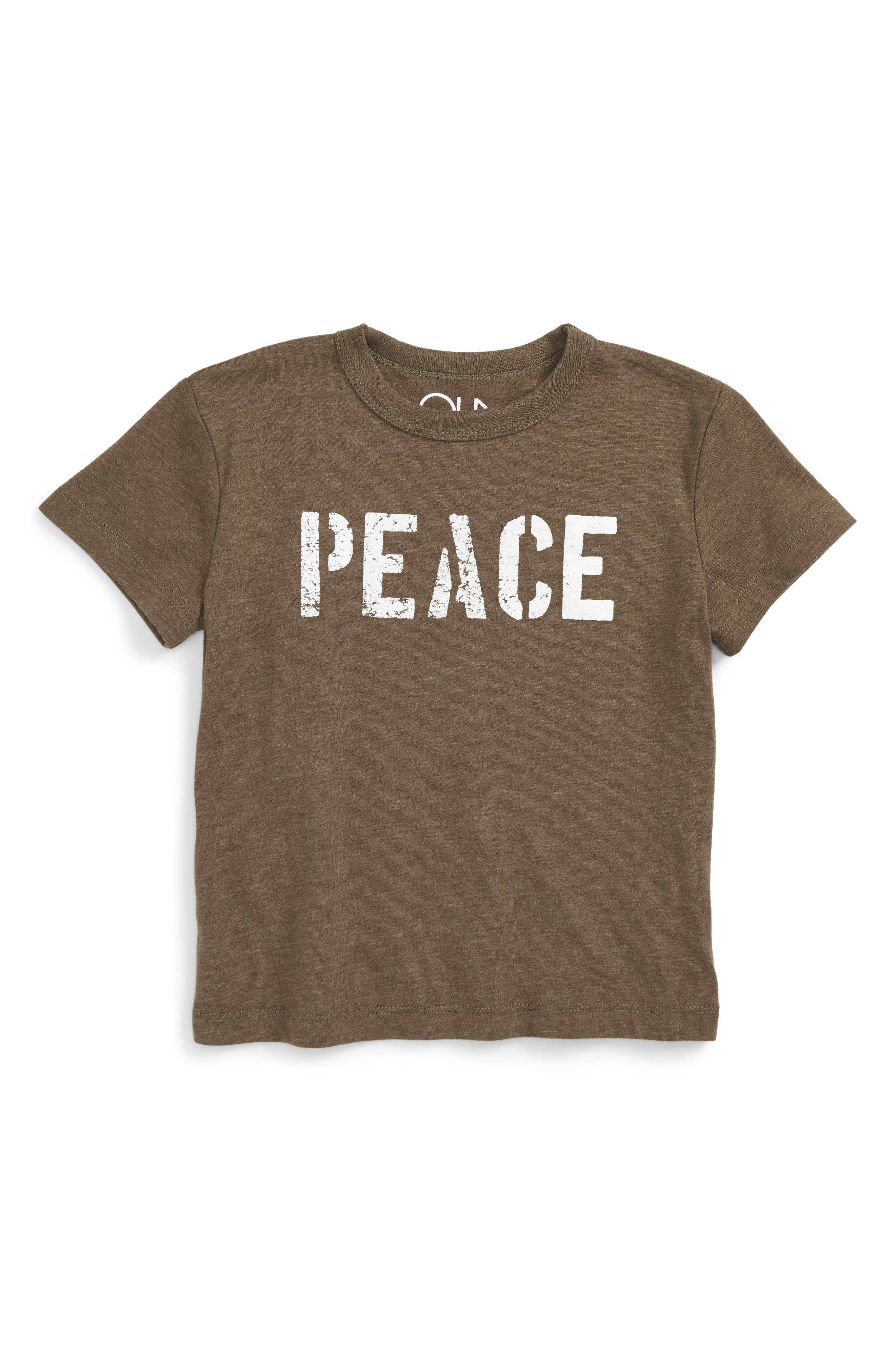 Peace Graphic T-Shirt,                             Main thumbnail 1, color,                             305