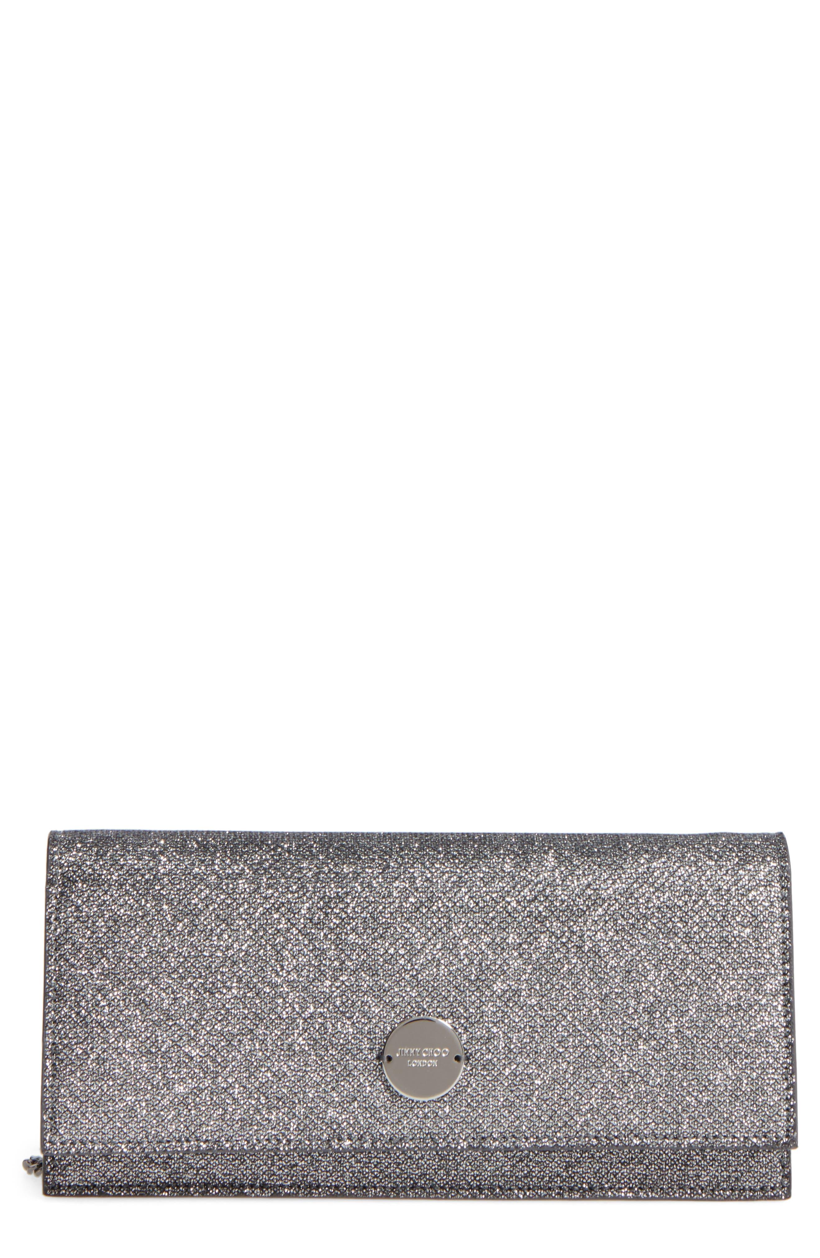 Fie Lamé Glitter Clutch,                         Main,                         color, 001