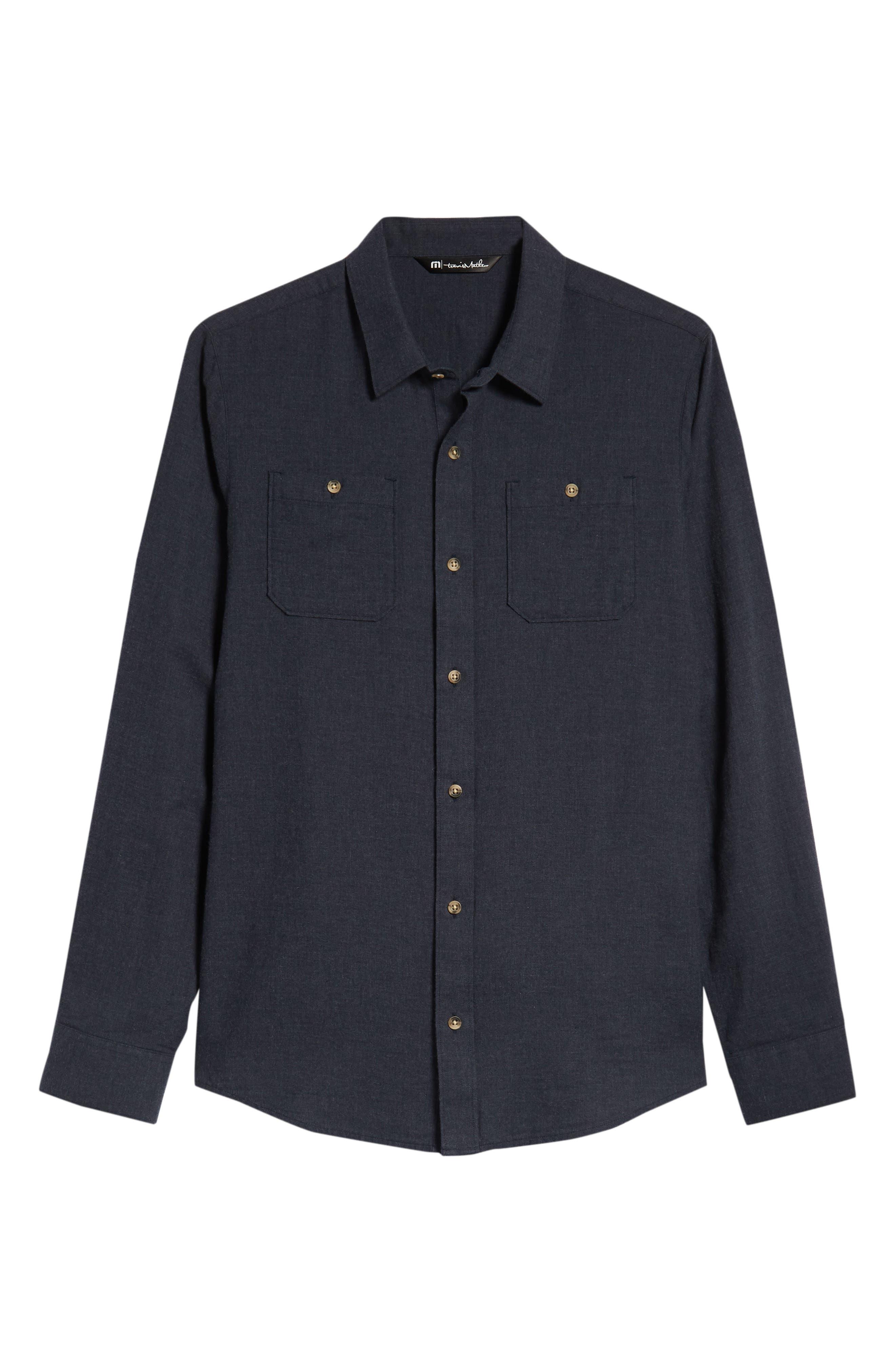Hefe Regular Fit Flannel Sport Shirt,                             Alternate thumbnail 5, color,                             BLUE NIGHTS