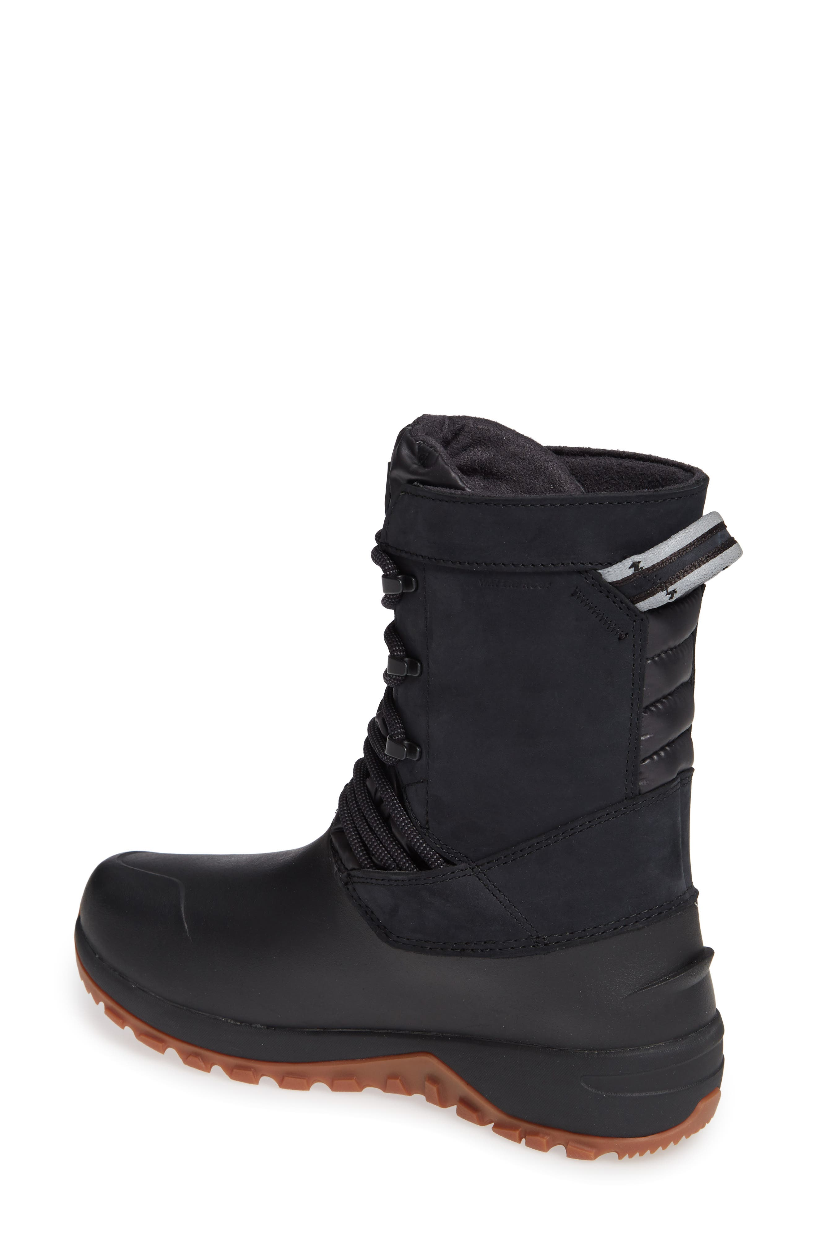 Yukiona Waterproof Winter Boot,                             Alternate thumbnail 2, color,                             BLACK/ BLACK