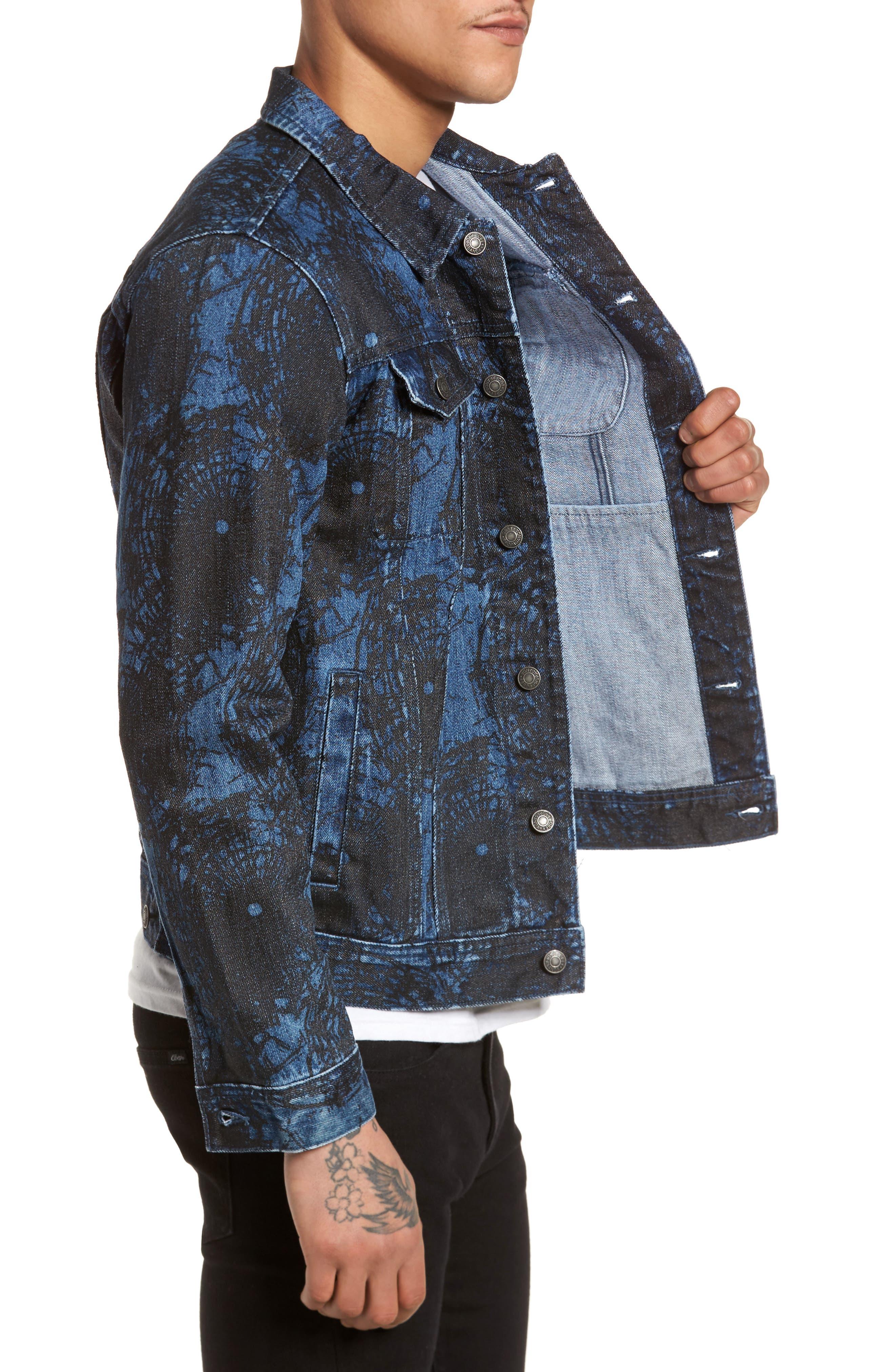 Shattered Denim Jacket,                             Alternate thumbnail 3, color,                             002