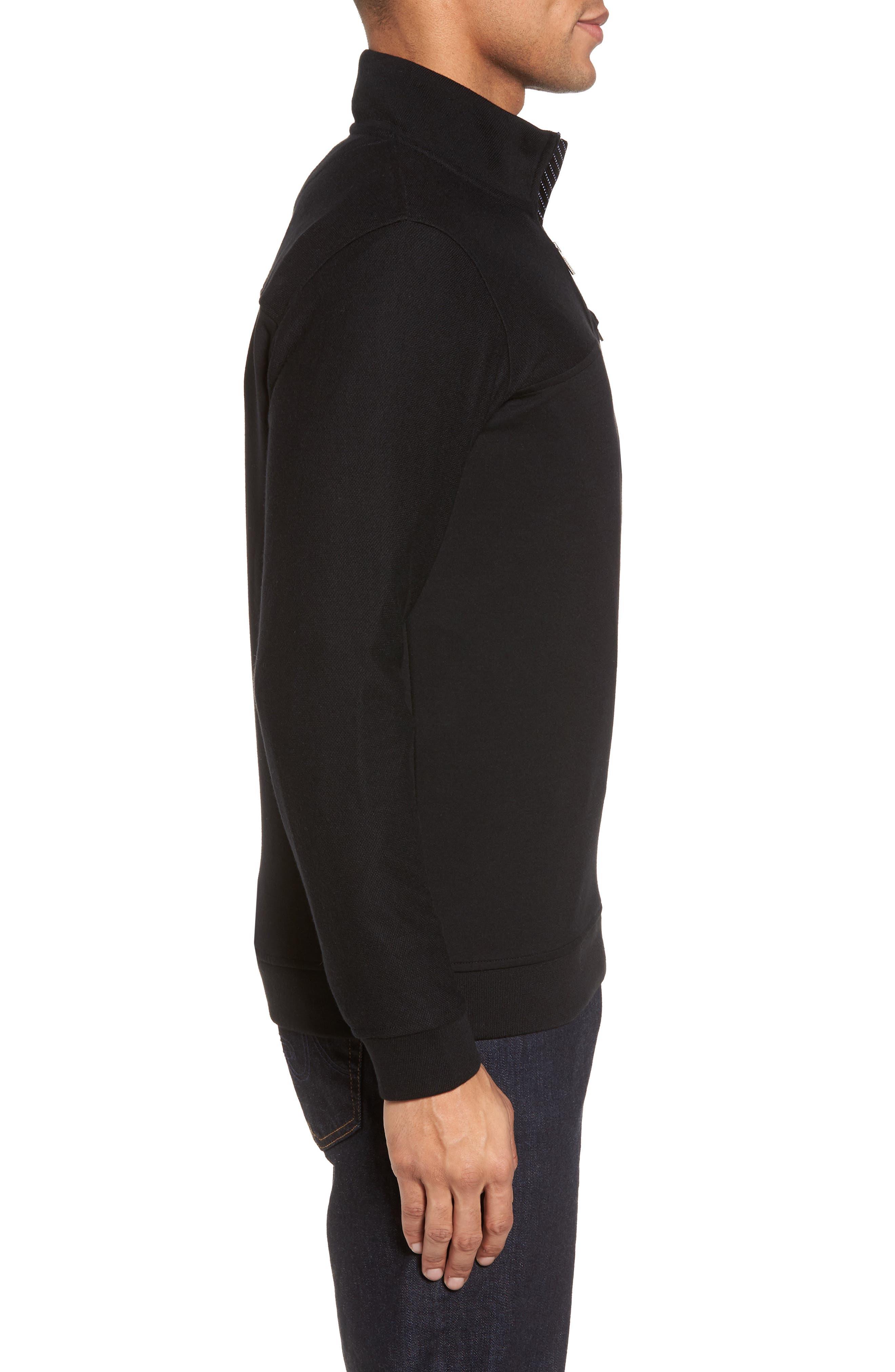 Livstay Slim Fit Quarter Zip Pullover,                             Alternate thumbnail 3, color,                             001