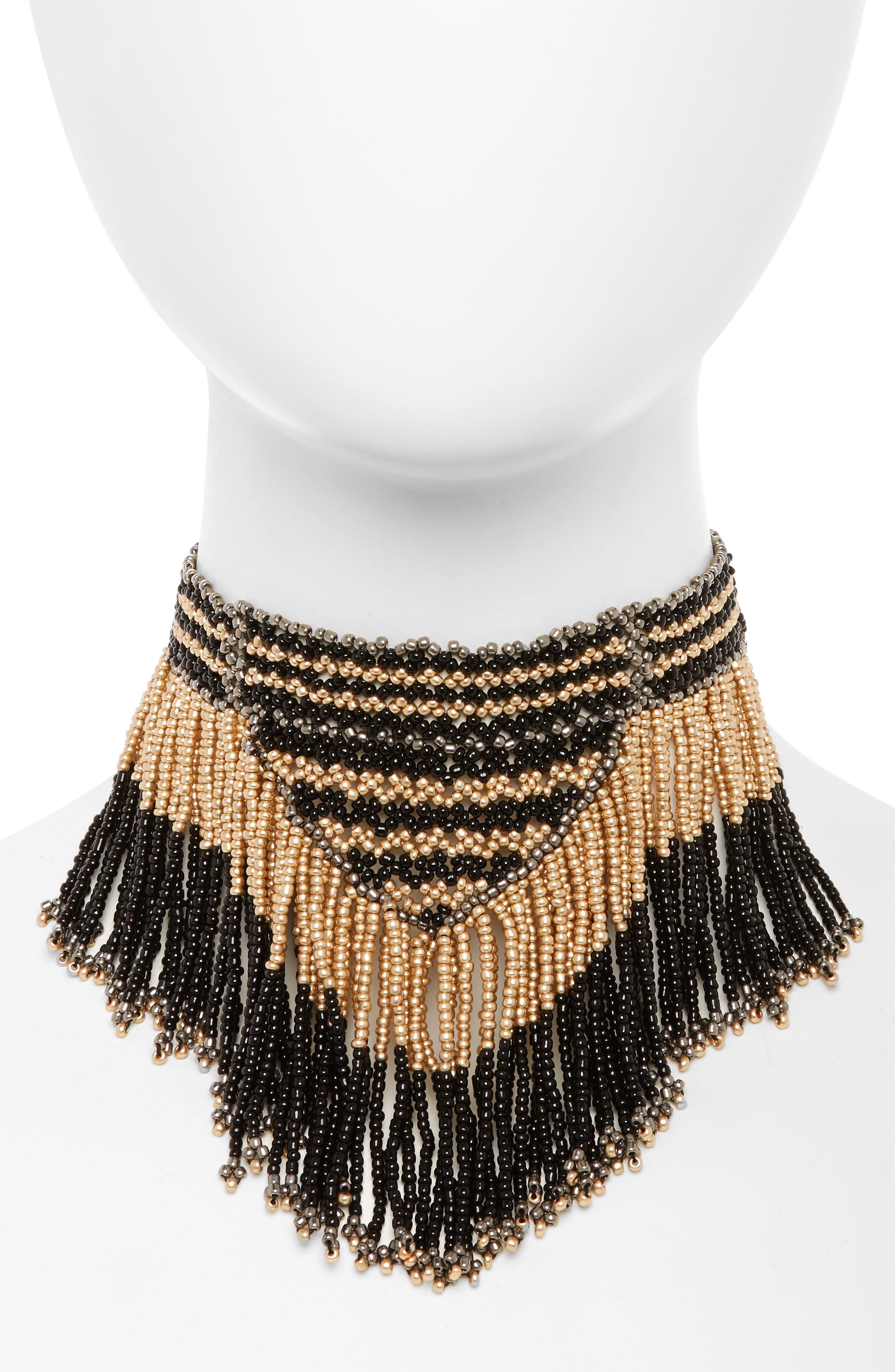 Fringe Necklace,                         Main,                         color, 001
