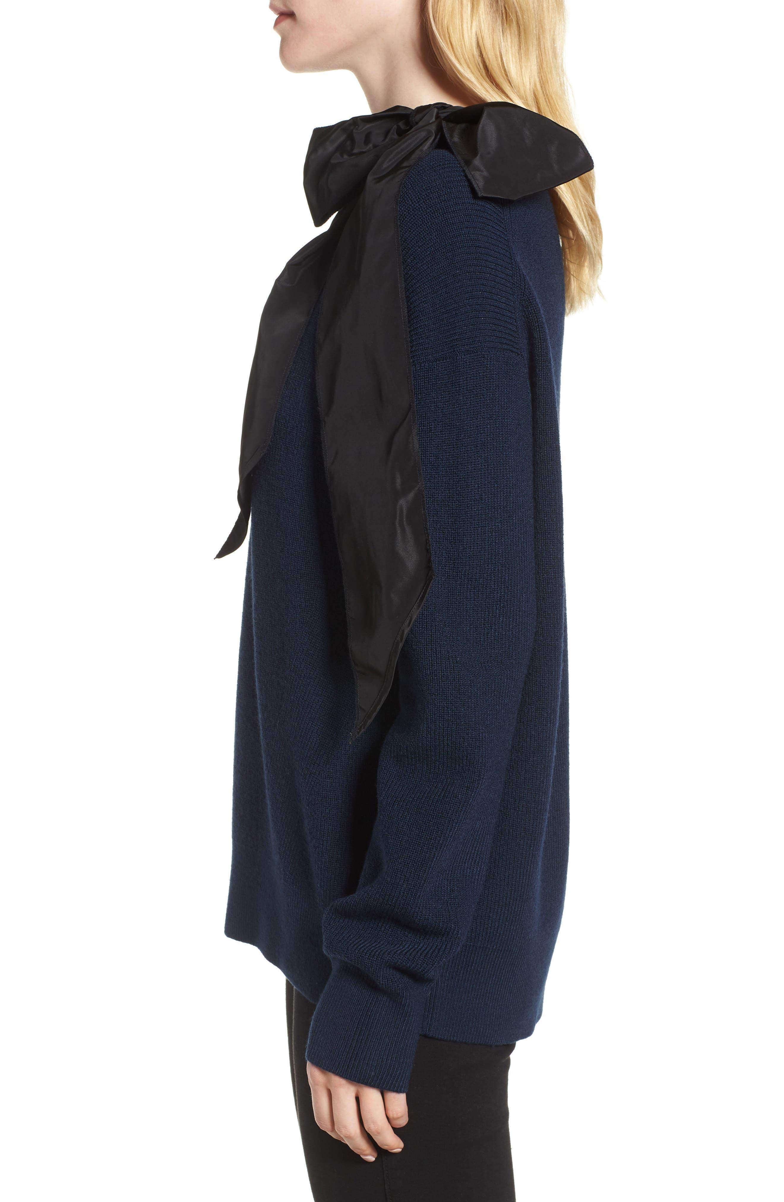 Bow Shoulder Sweater,                             Alternate thumbnail 3, color,                             410