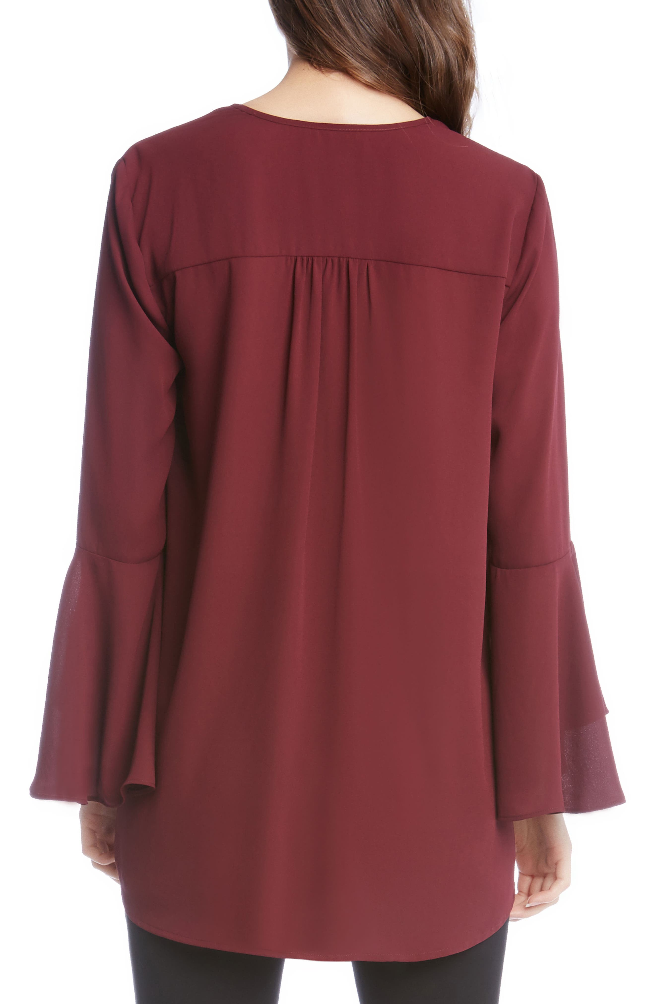 Slit Sleeve High/Low Top,                             Alternate thumbnail 8, color,