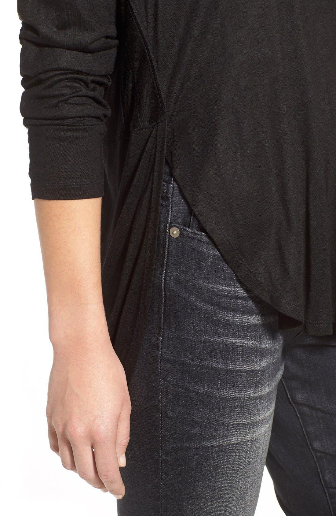 'High Riser' Skinny Skinny Jeans,                             Alternate thumbnail 6, color,                             400