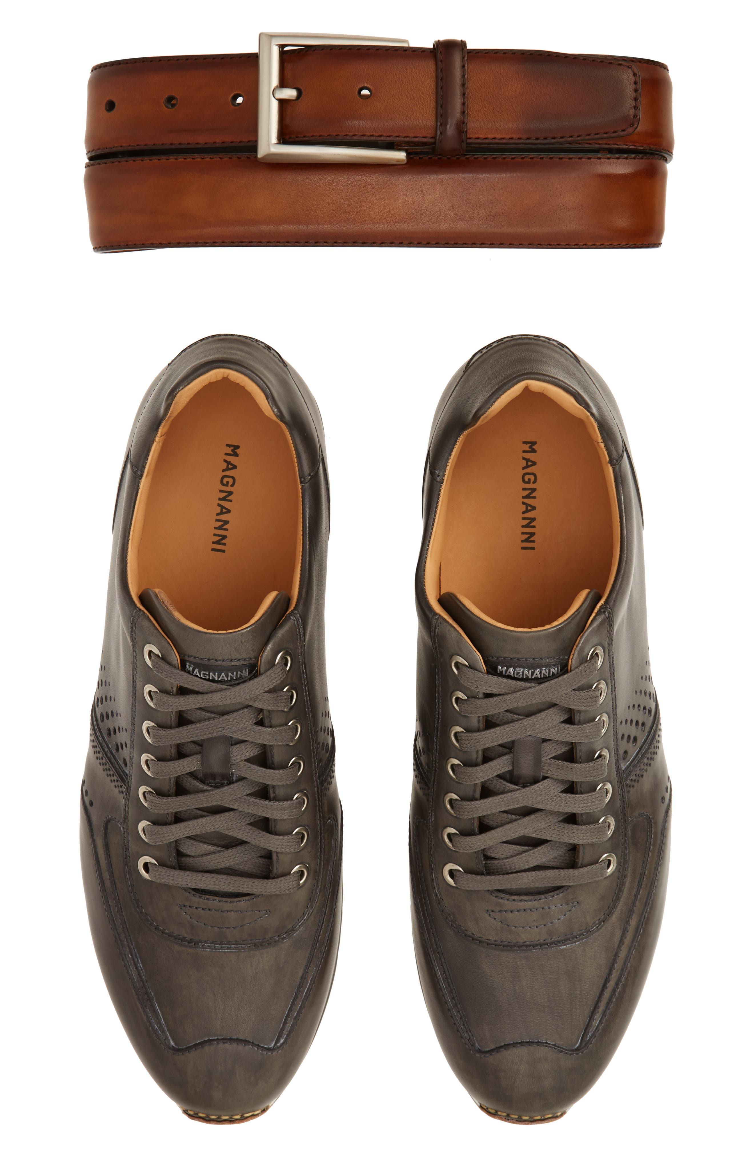 'Cristian' Sneaker,                             Alternate thumbnail 2, color,                             GREY LEATHER