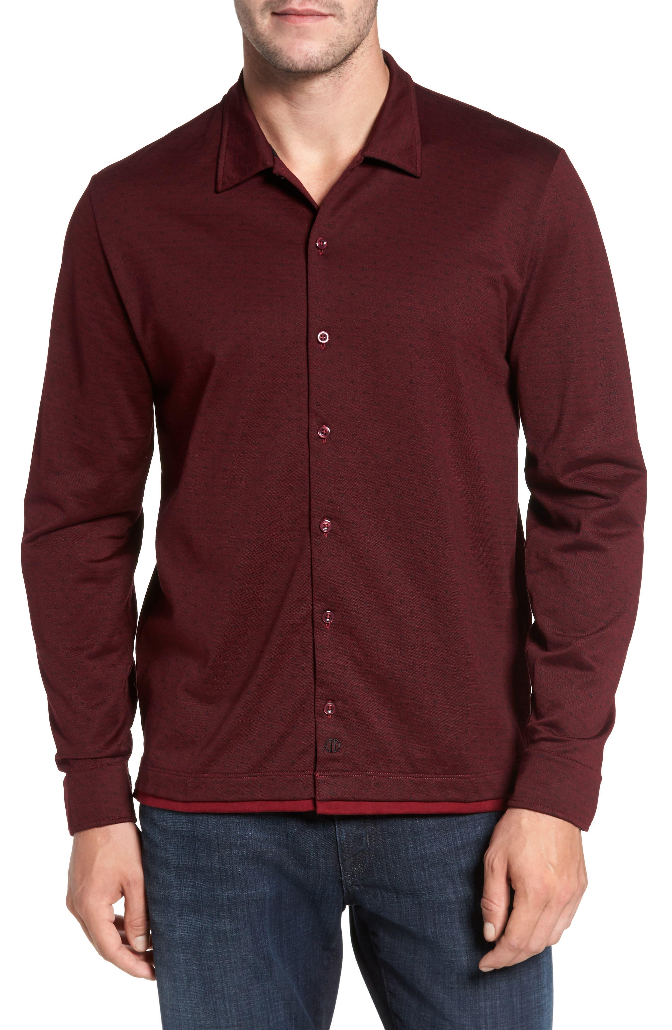 Jacquard Knit Sport Shirt,                             Main thumbnail 4, color,