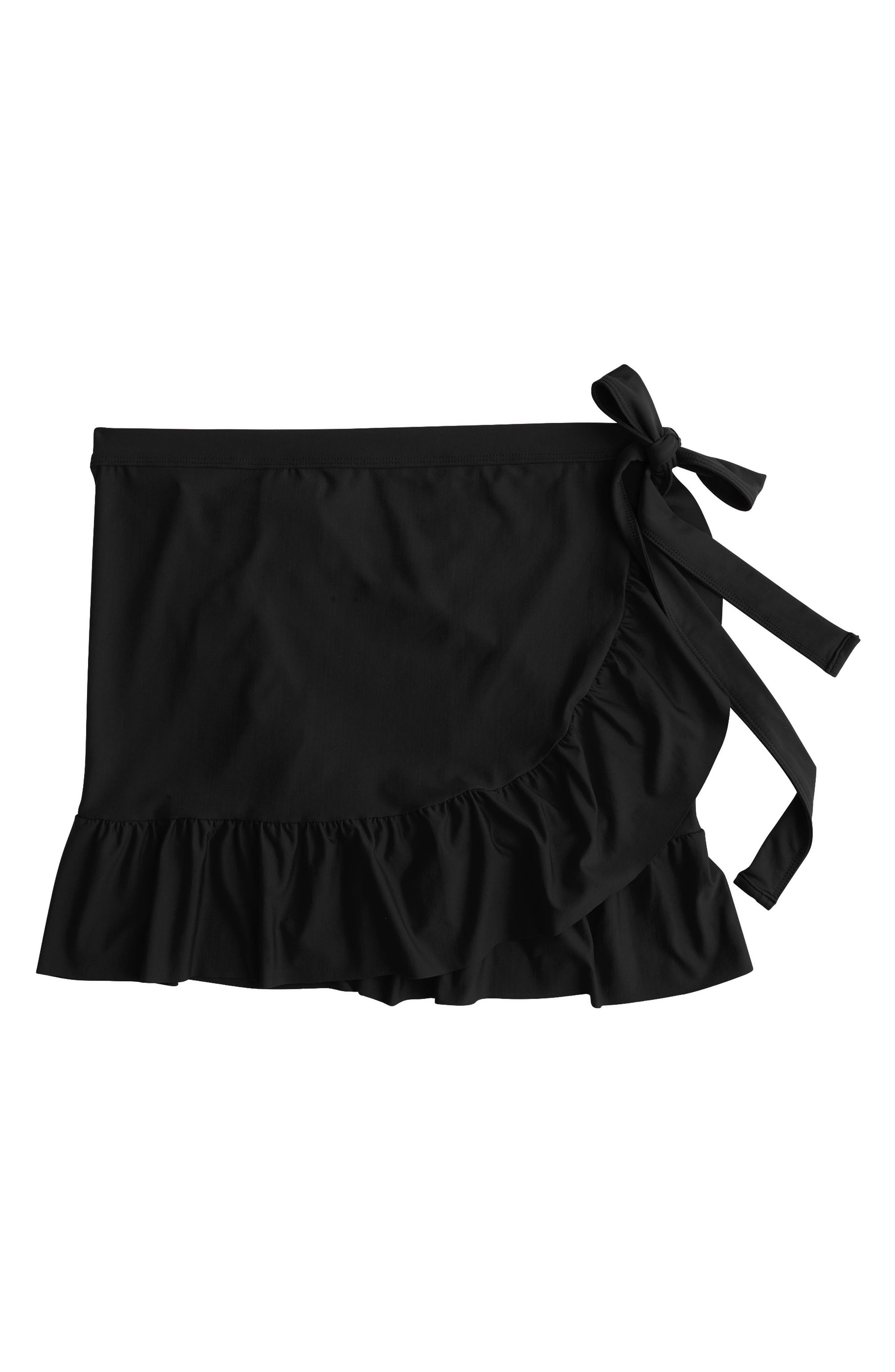 Cover-Up Wrap Skirt,                             Alternate thumbnail 6, color,                             001
