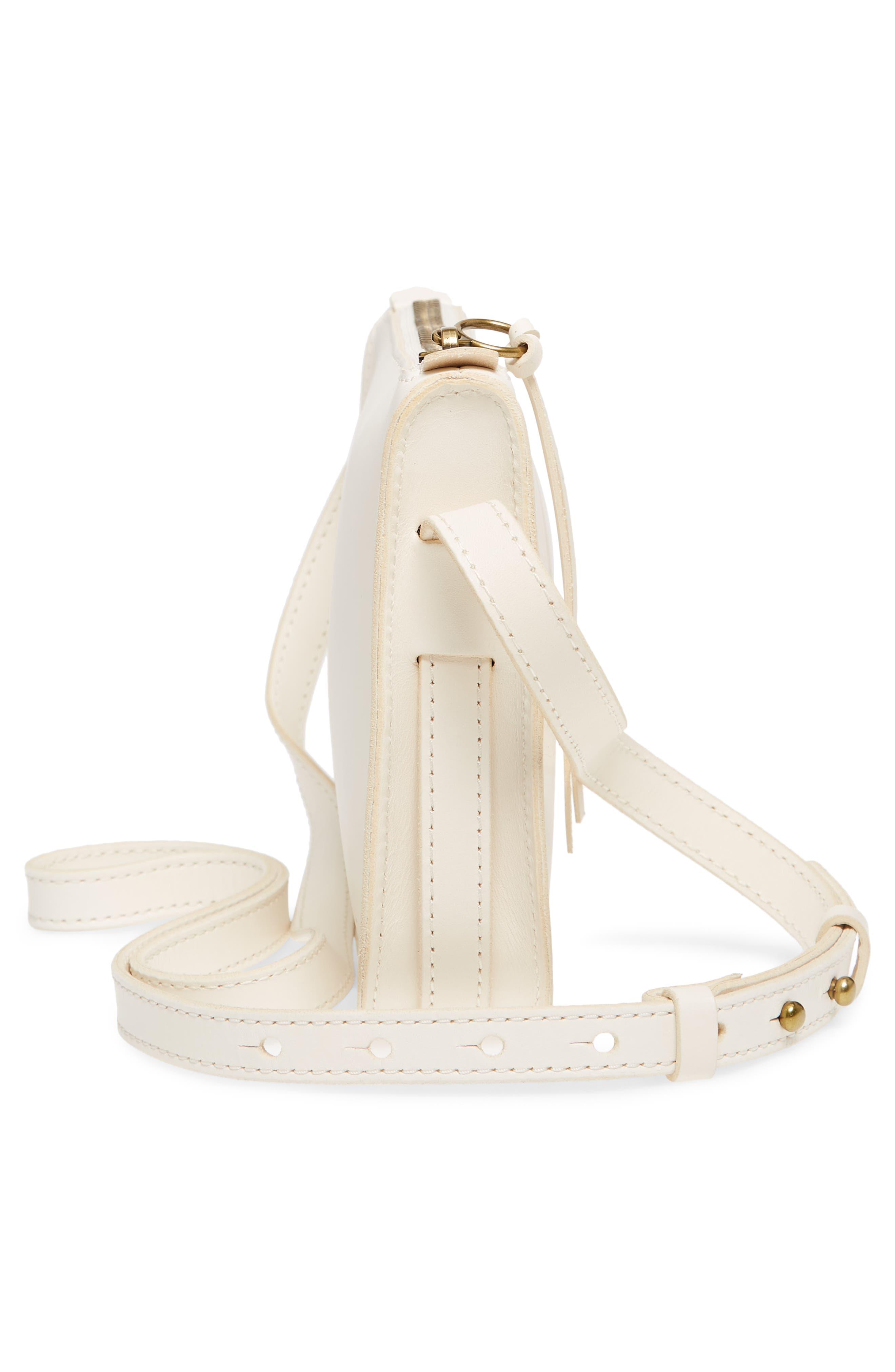Simple Leather Crossbody Bag,                             Alternate thumbnail 5, color,                             VINTAGE CANVAS