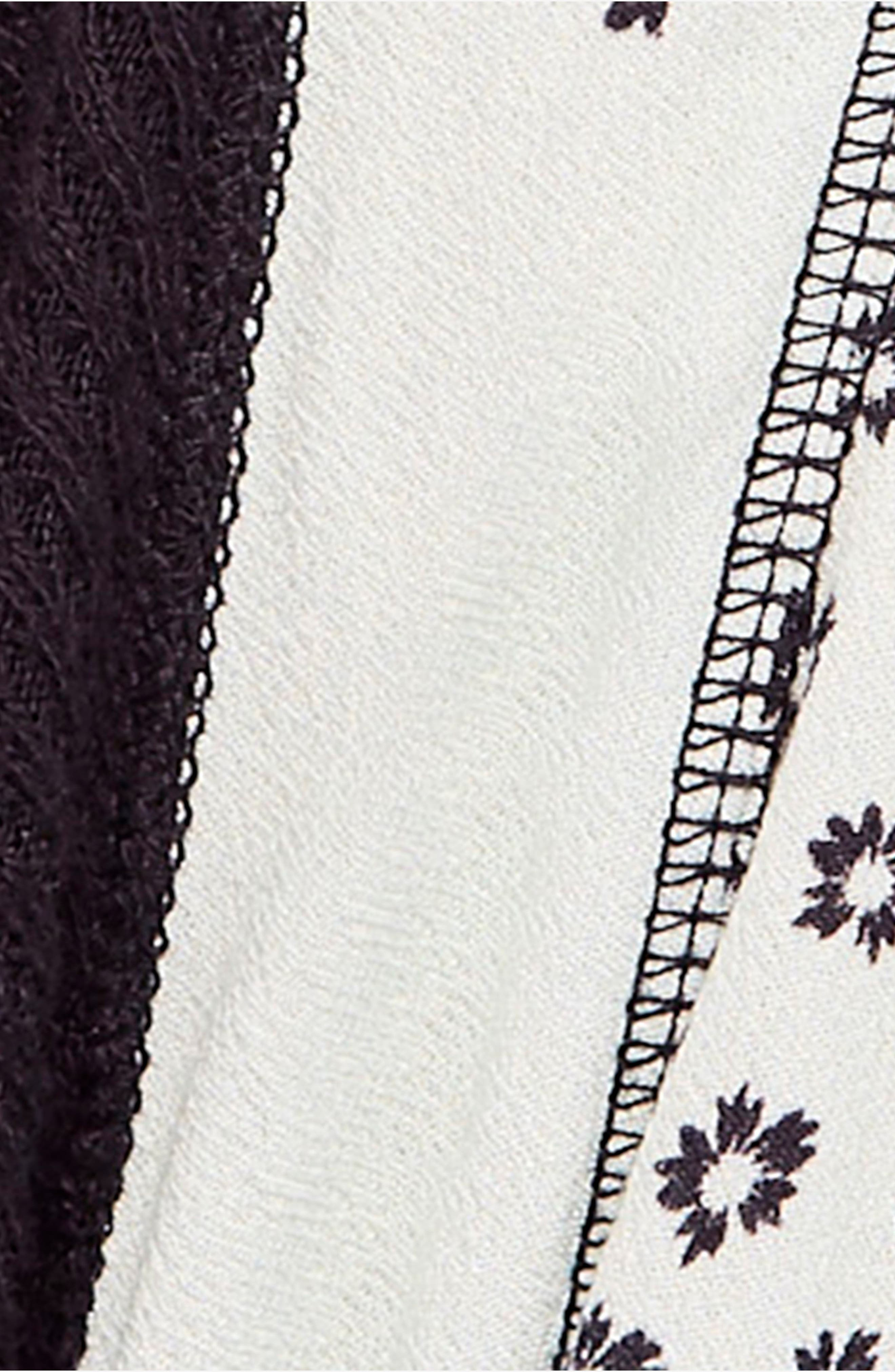 Auxton Thermal Wrap Top,                             Alternate thumbnail 5, color,                             BLACK