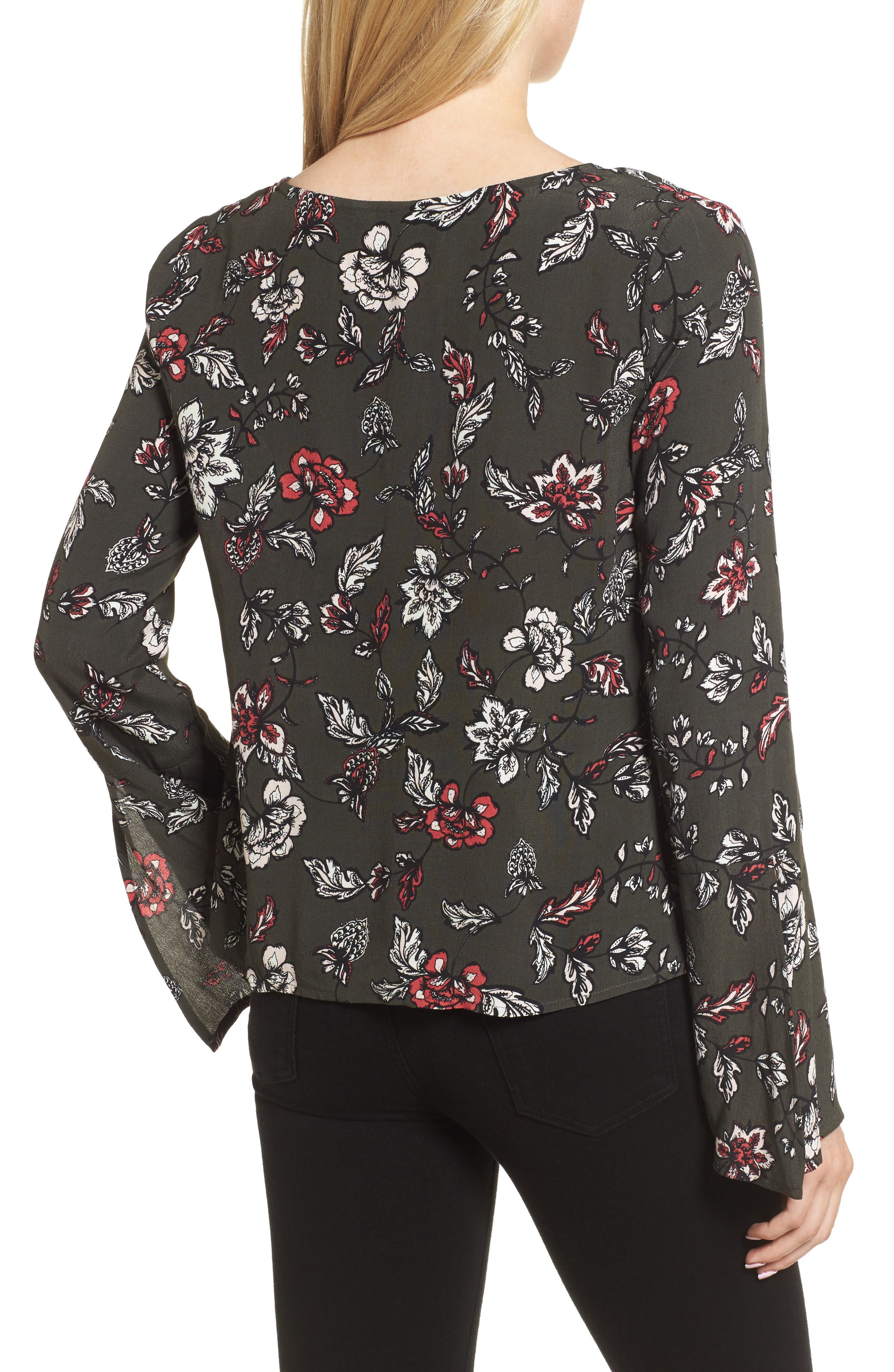 Jantel Bell Sleeve Shirt,                             Alternate thumbnail 2, color,                             360