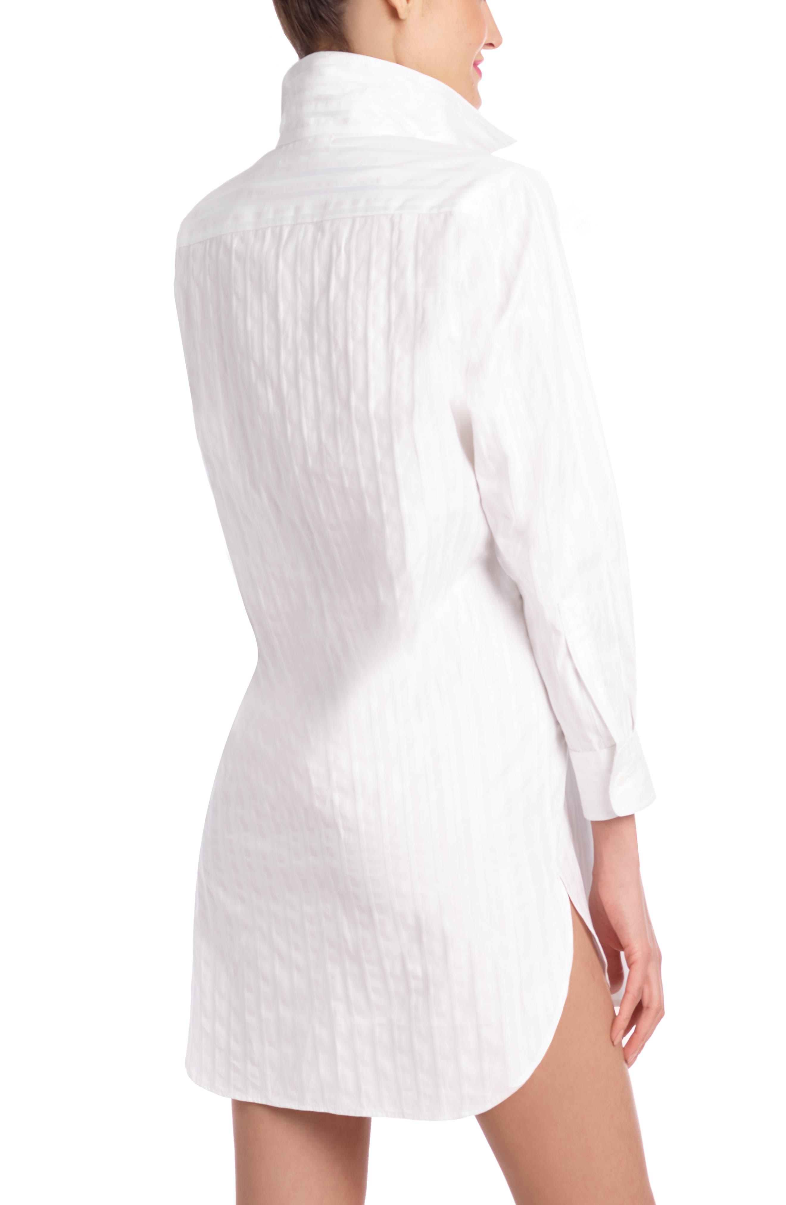 Stripe Oversize Sleep Shirt,                             Alternate thumbnail 2, color,                             JACQUARD STRIPE WHITE