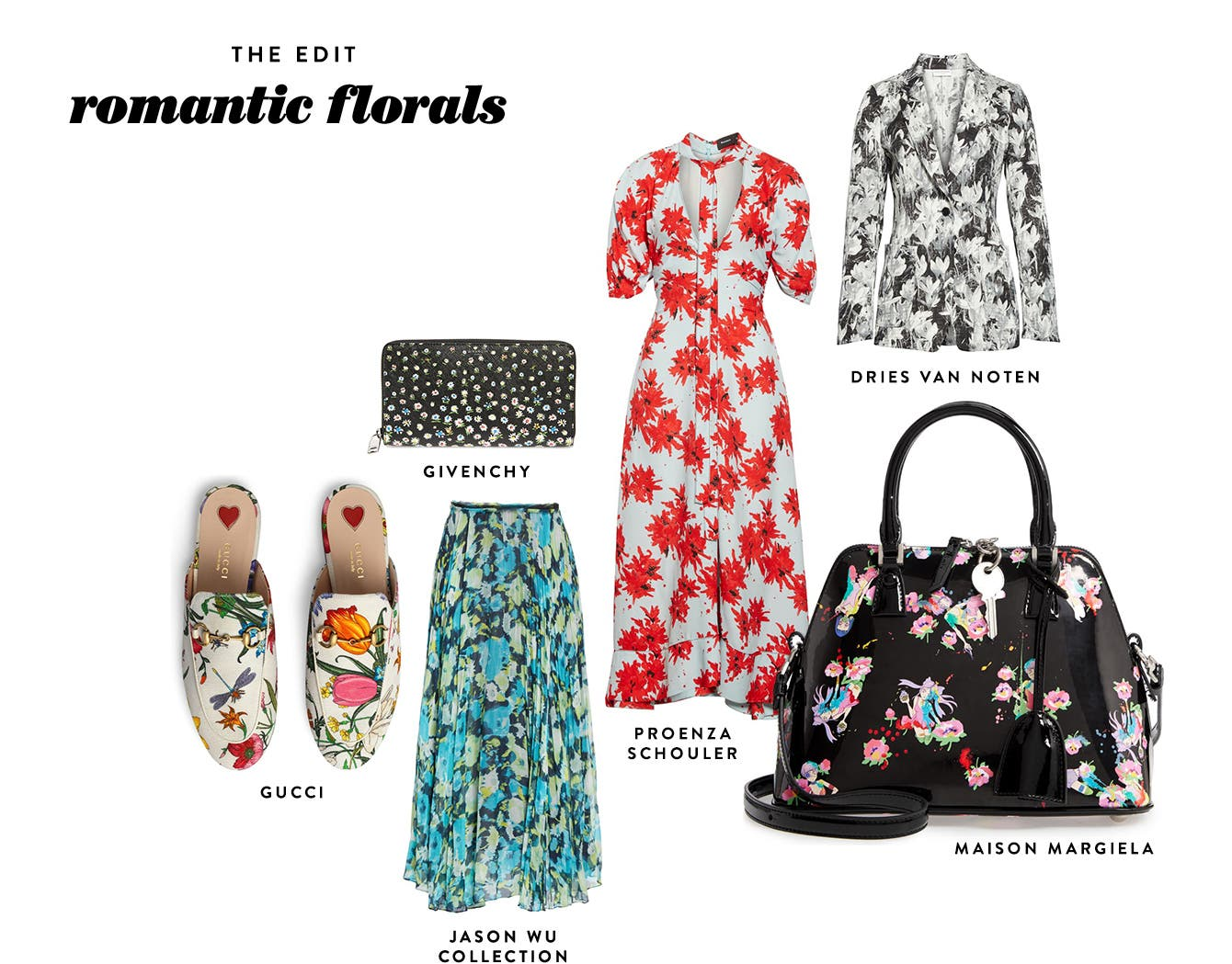 The edit: romantic florals.