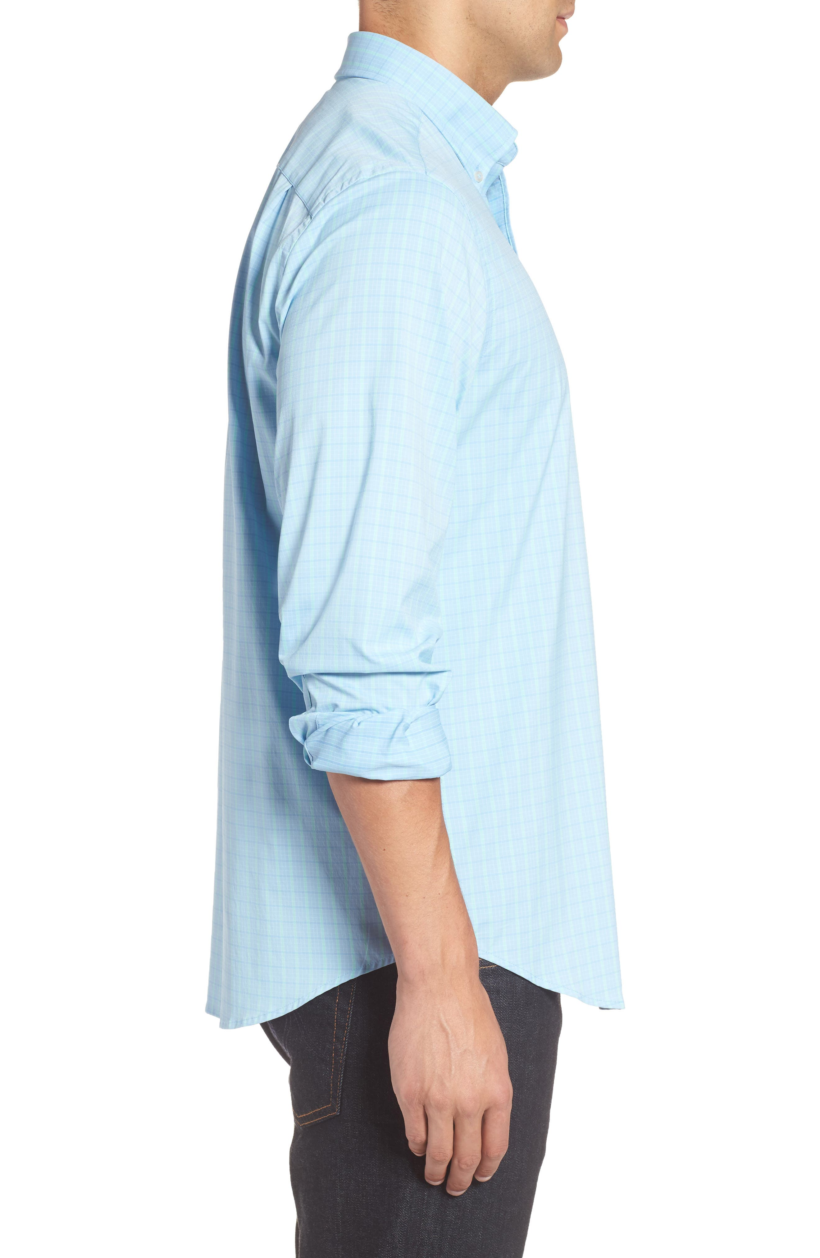 Intercoastal Gordia Plaid Sport Shirt,                             Alternate thumbnail 6, color,