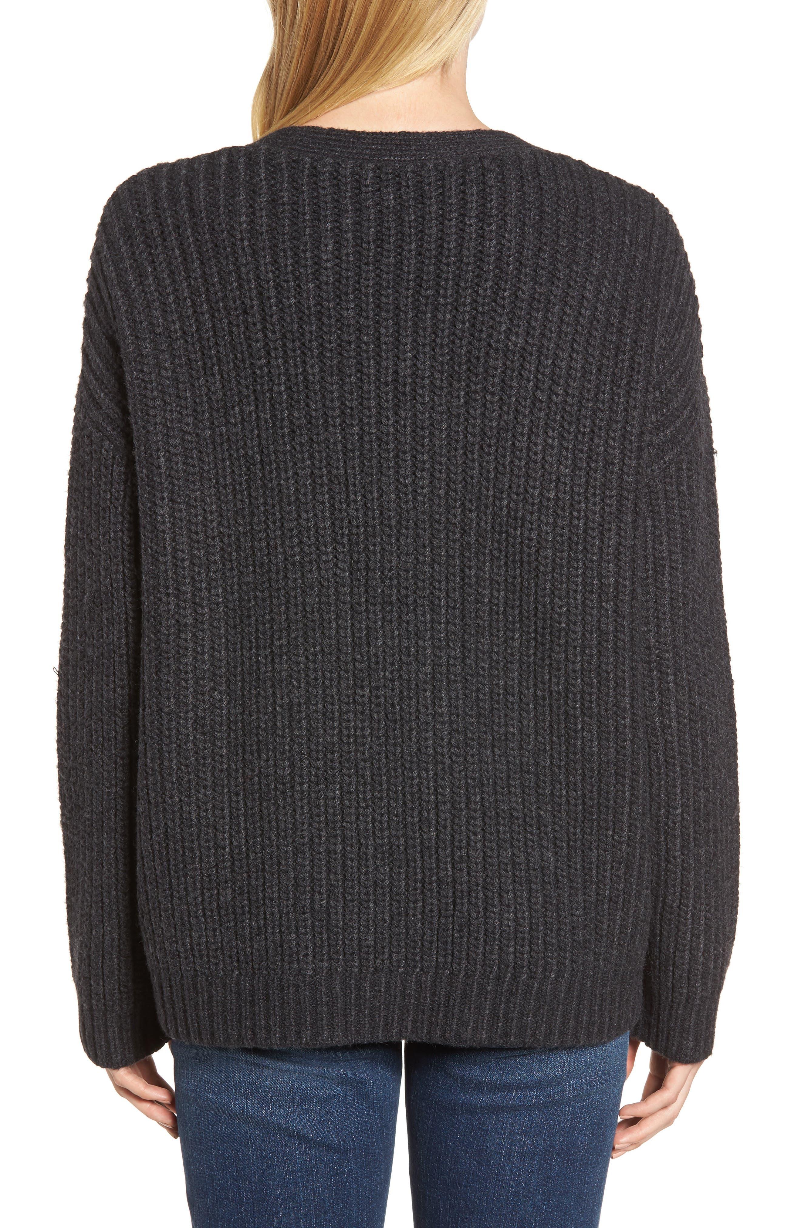 Chunky Wool Alpaca Shaker Cardigan,                             Alternate thumbnail 2, color,                             025