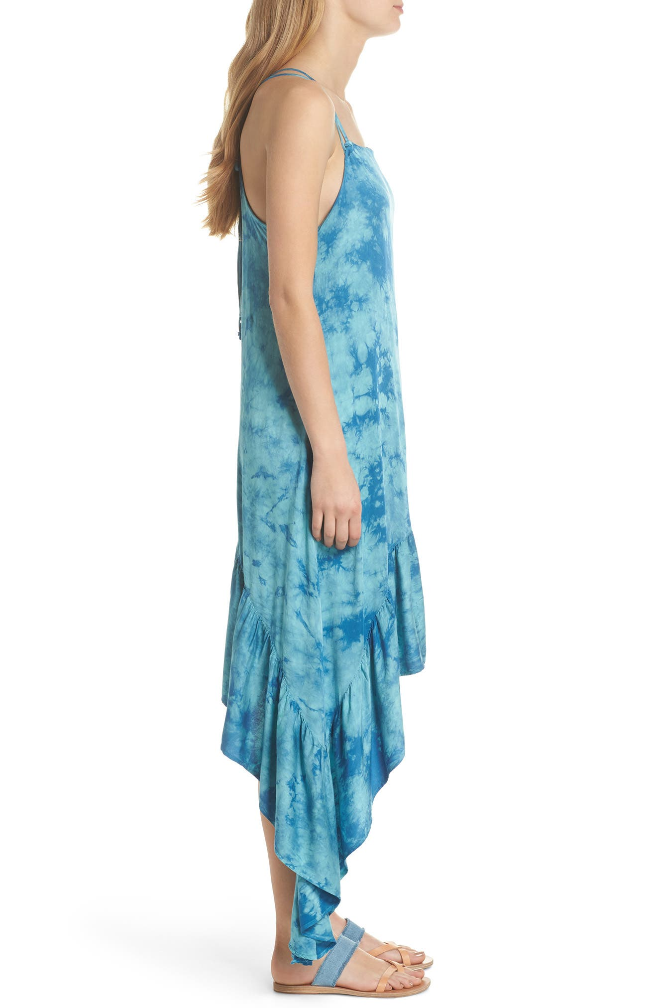 Crystal Forest Clementine Cover-Up Dress,                             Alternate thumbnail 3, color,                             401