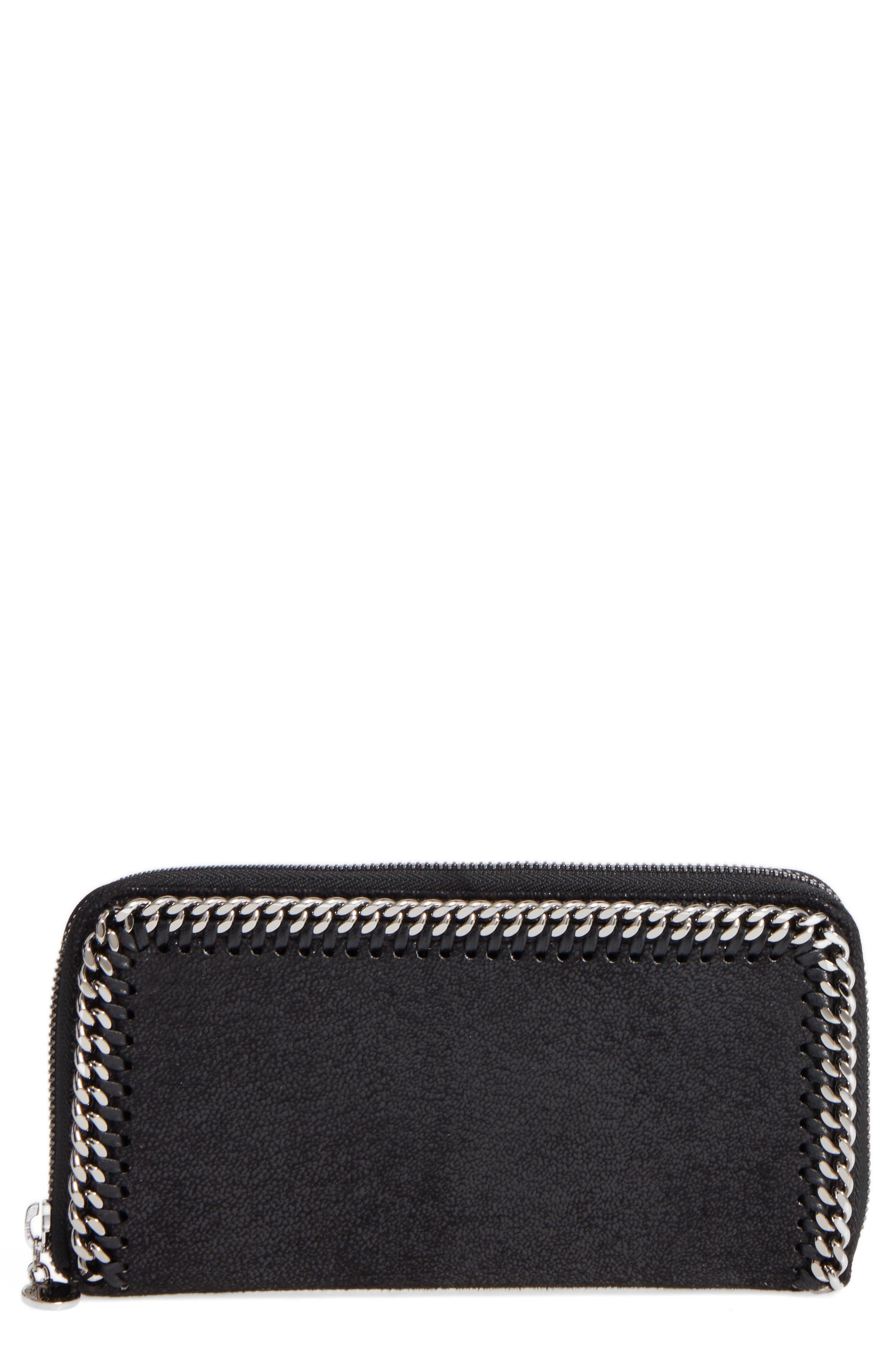 Falabella Faux Leather Wallet,                         Main,                         color, 001