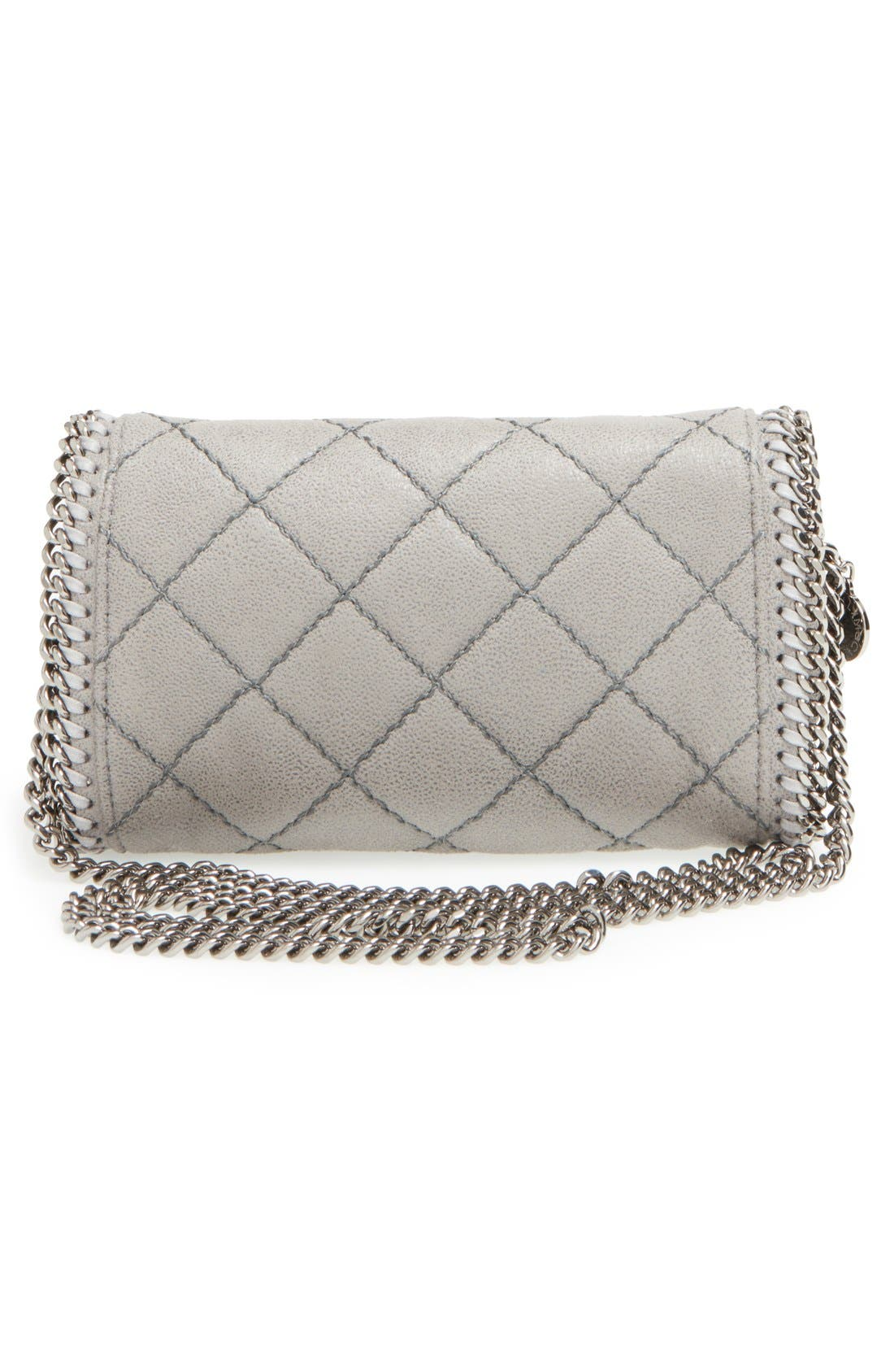 'Falabella' Quilted Faux Leather Crossbody Bag,                             Alternate thumbnail 5, color,