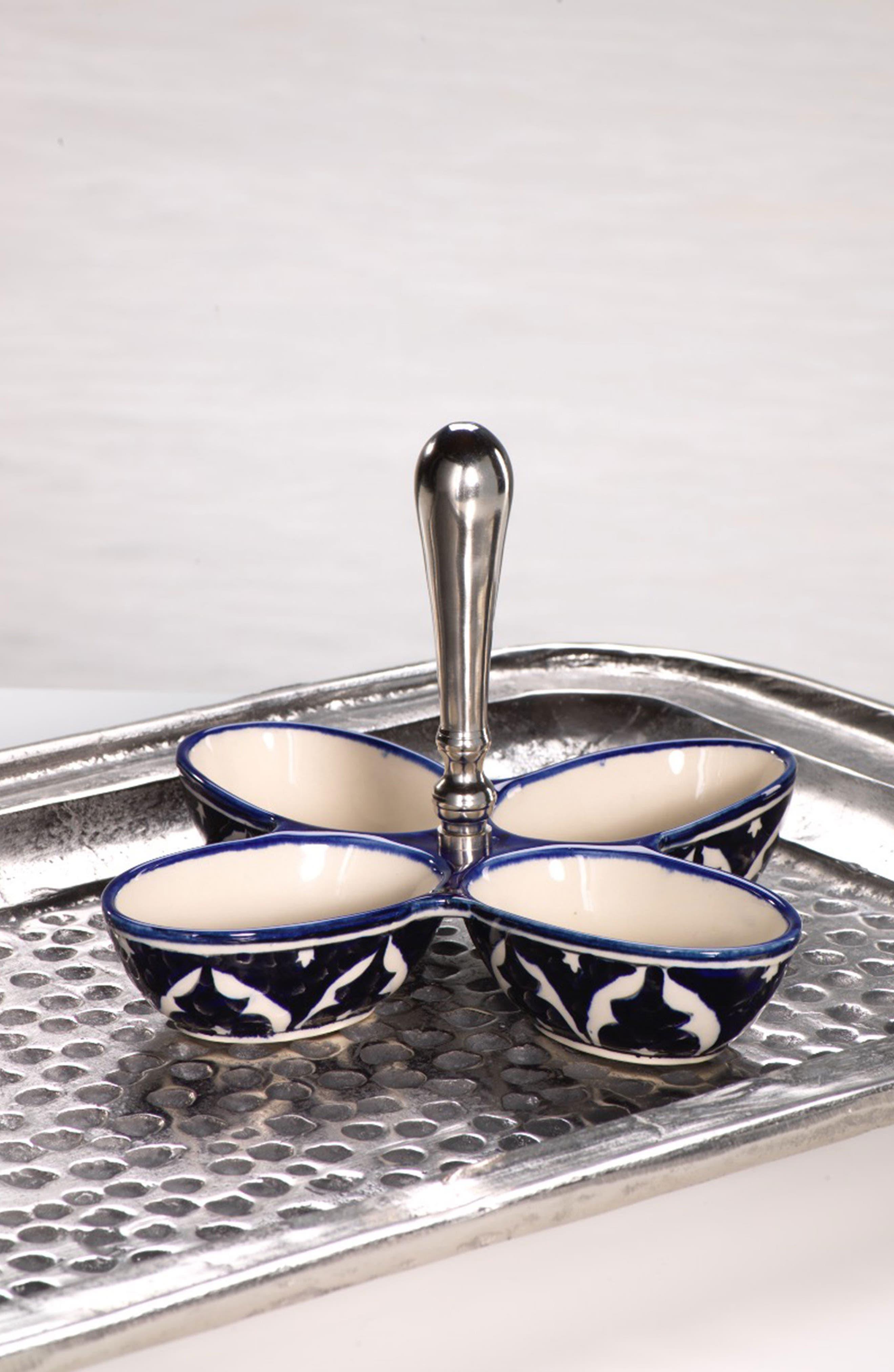 ZODAX,                             Mazagan 4-Section Ceramic Condiment Dish,                             Alternate thumbnail 2, color,                             400
