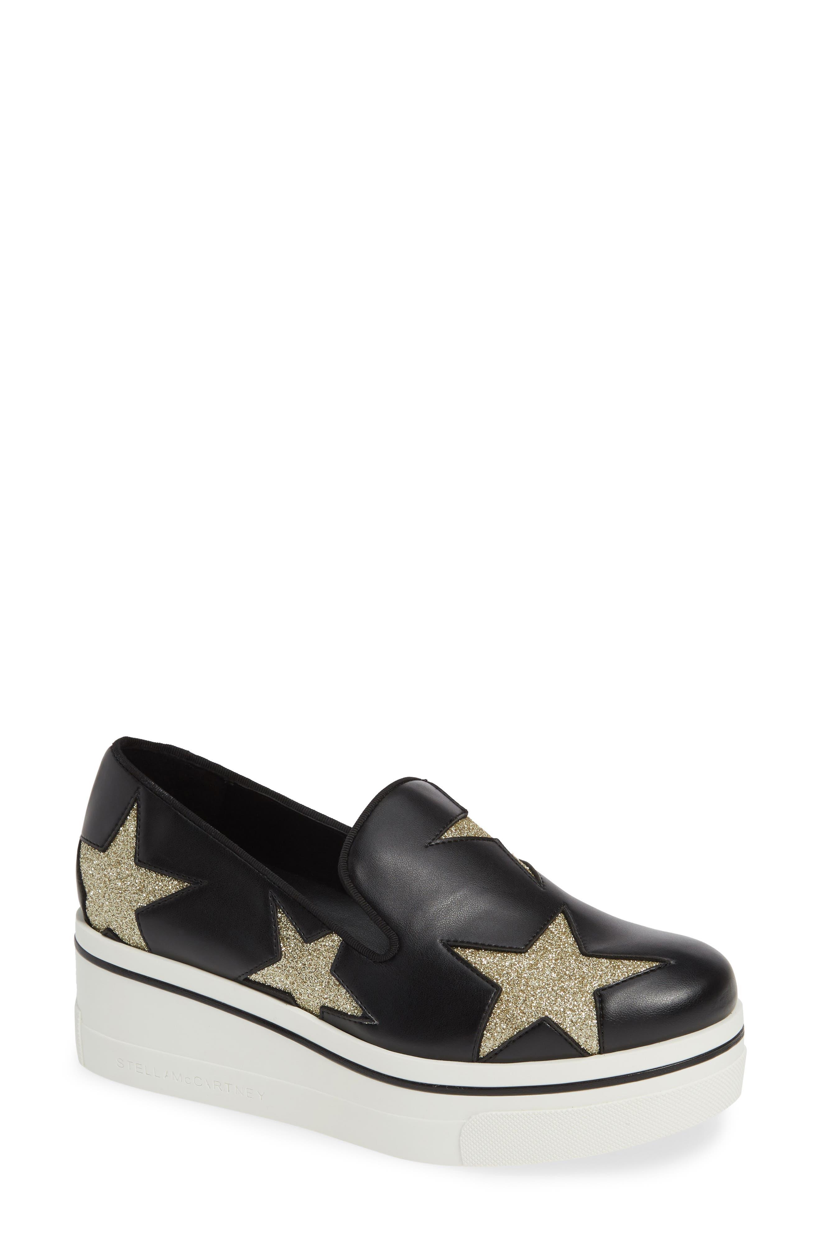 Binx Stars Slip-On Platform Sneaker in Black/ Gold