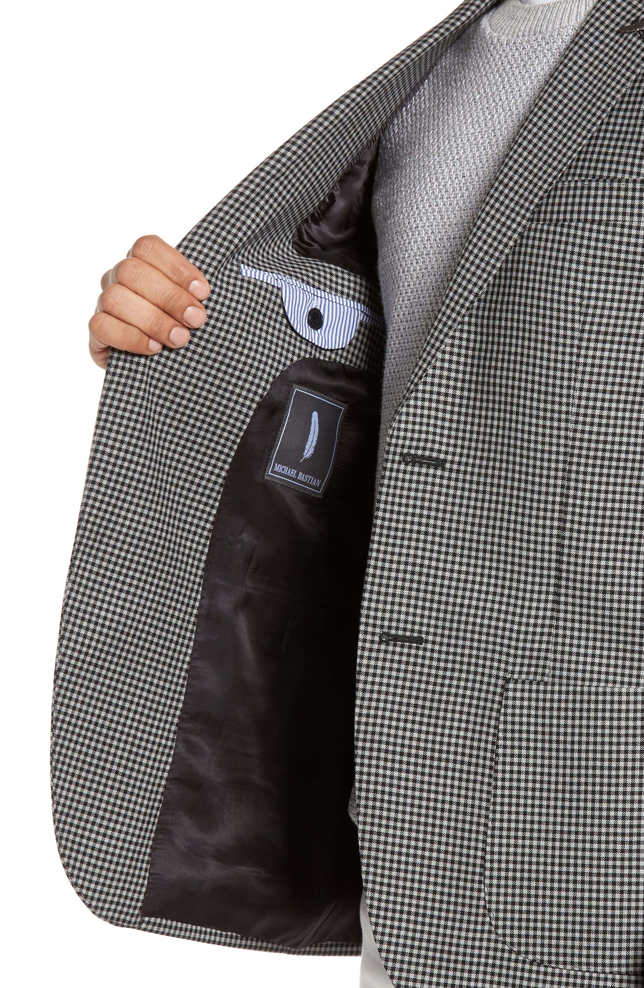 Classic Fit Check Wool Sport Coat,                             Alternate thumbnail 4, color,                             002