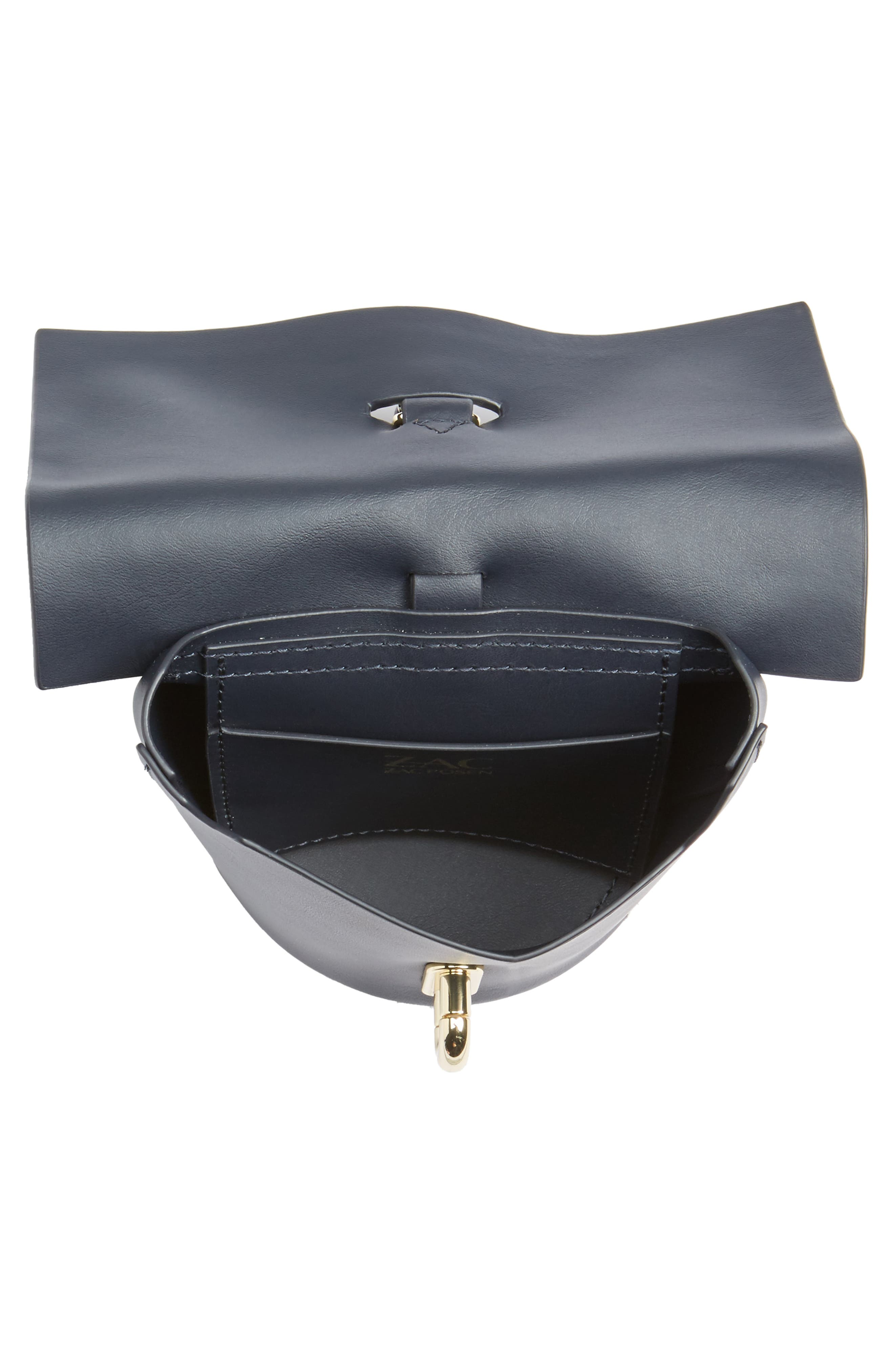Belay Calfskin Leather Museum Wristlet,                             Alternate thumbnail 4, color,                             001