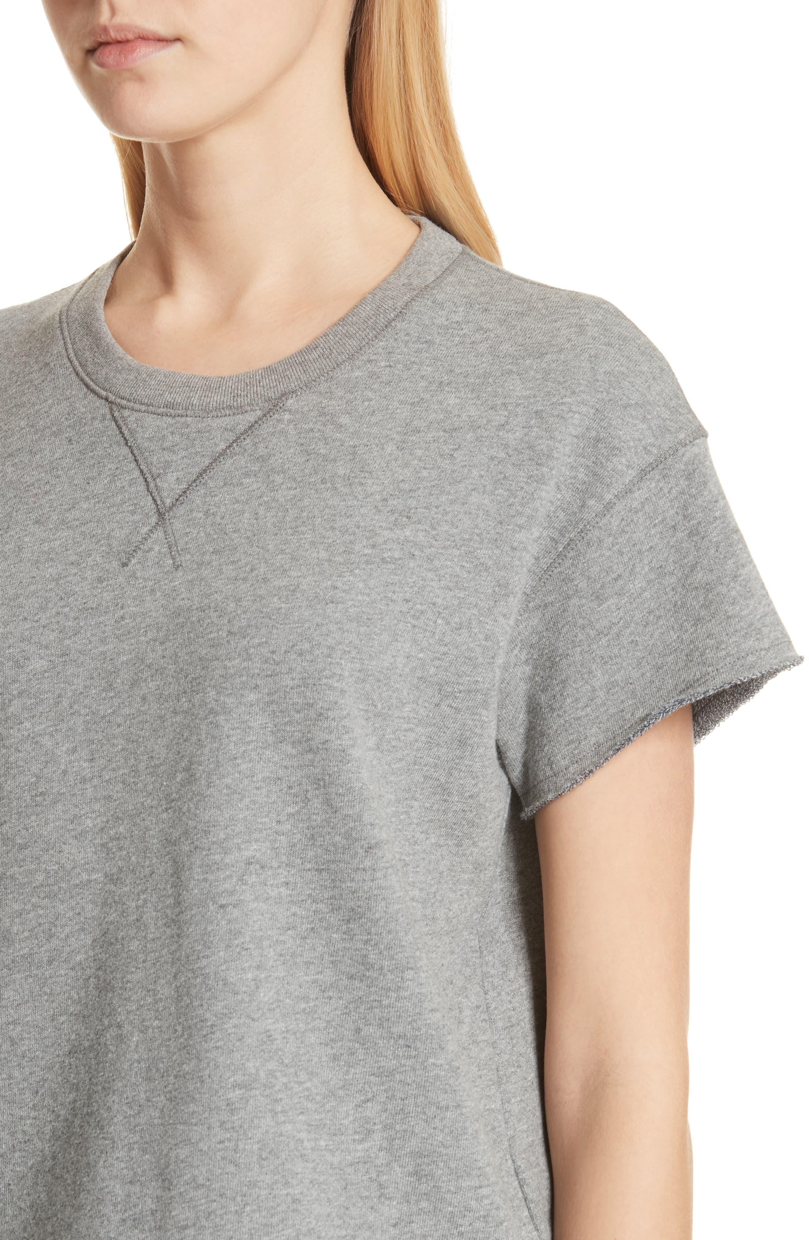 Short Sleeve Sweatshirt,                             Alternate thumbnail 4, color,