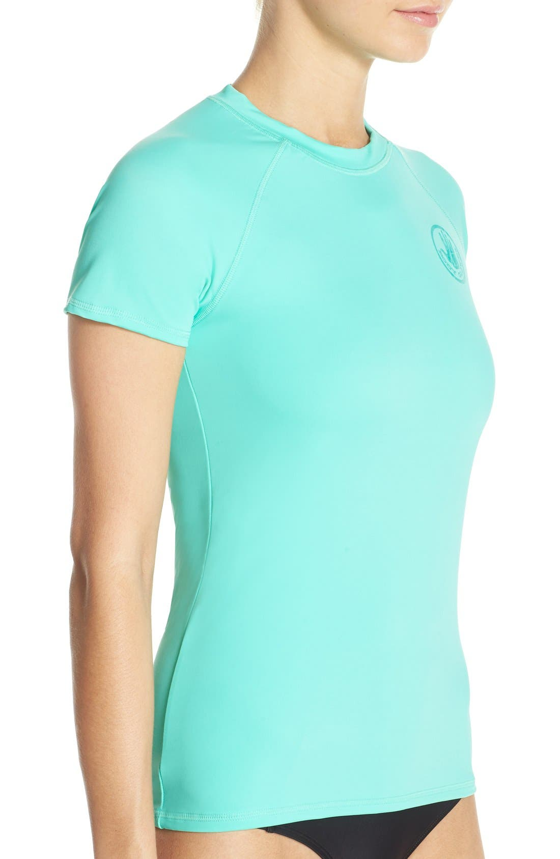 'Smoothies in Motion' Short Sleeve Rashguard,                             Alternate thumbnail 15, color,