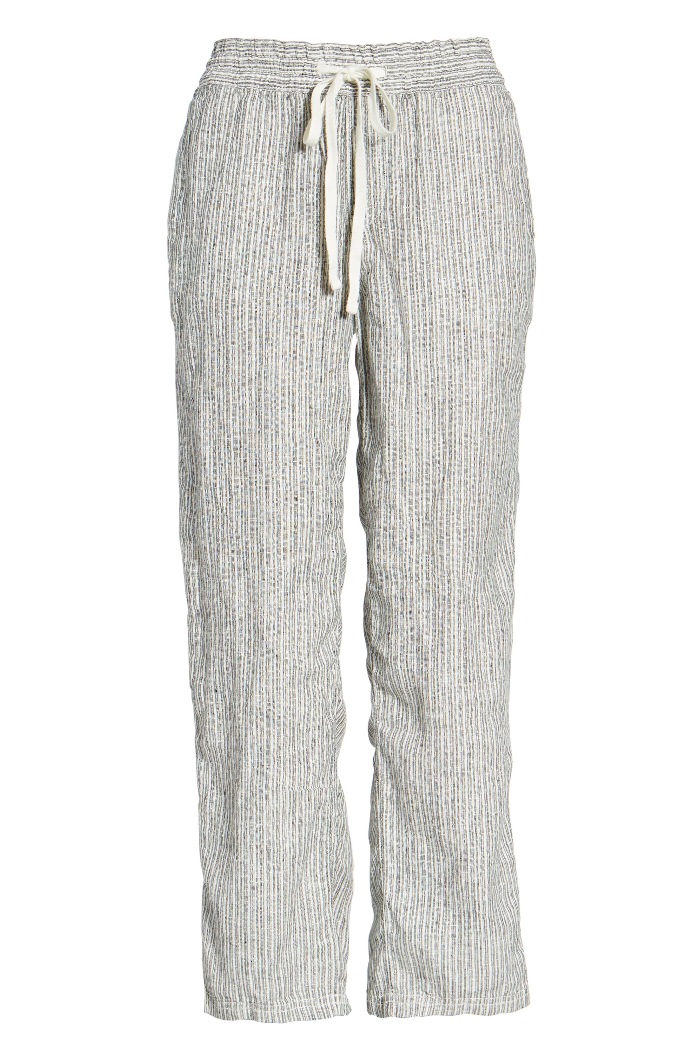 Linen Crop Pants,                             Alternate thumbnail 40, color,