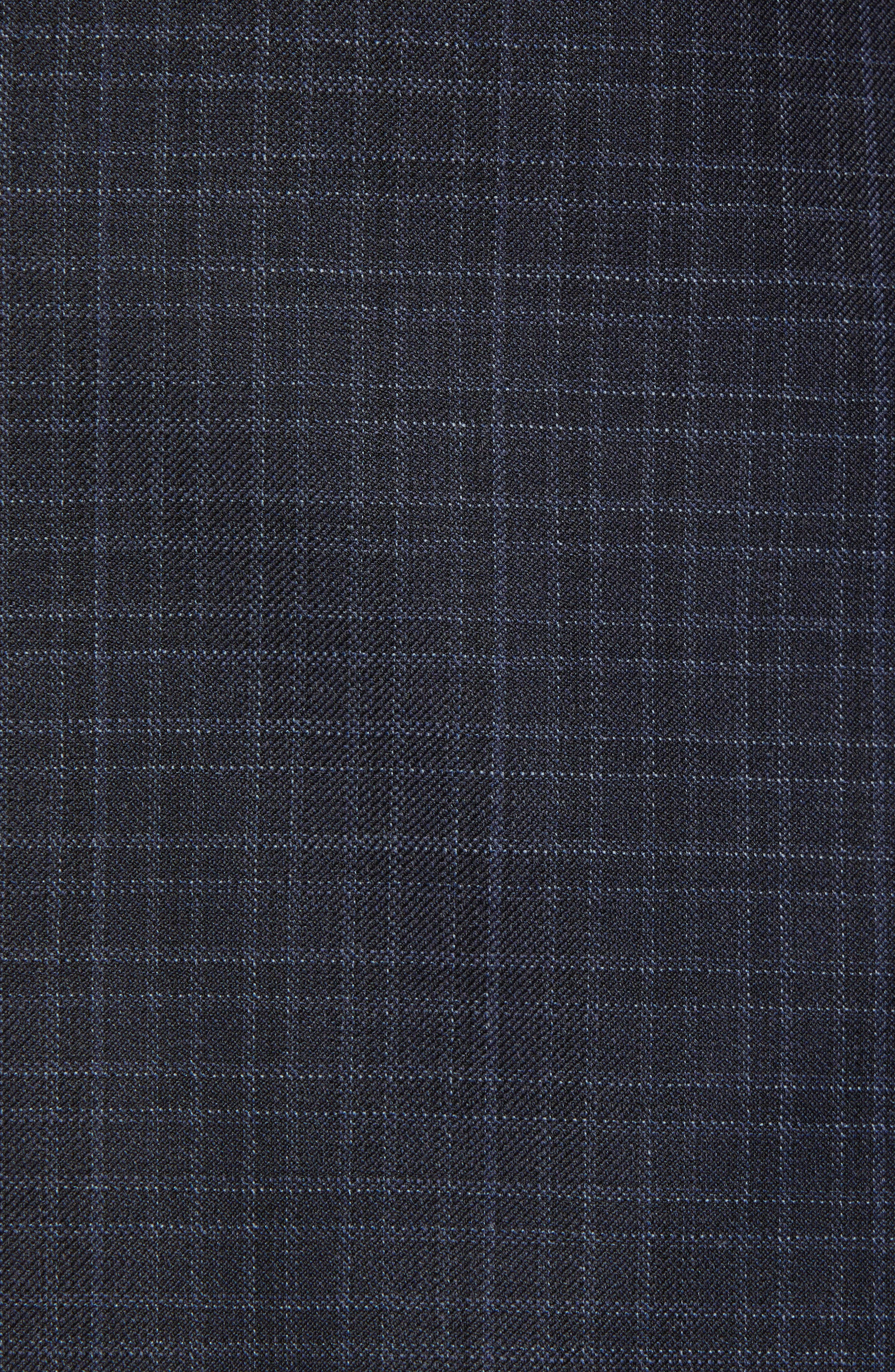 New York Classic Fit Check Wool Suit,                             Alternate thumbnail 7, color,                             NAVY