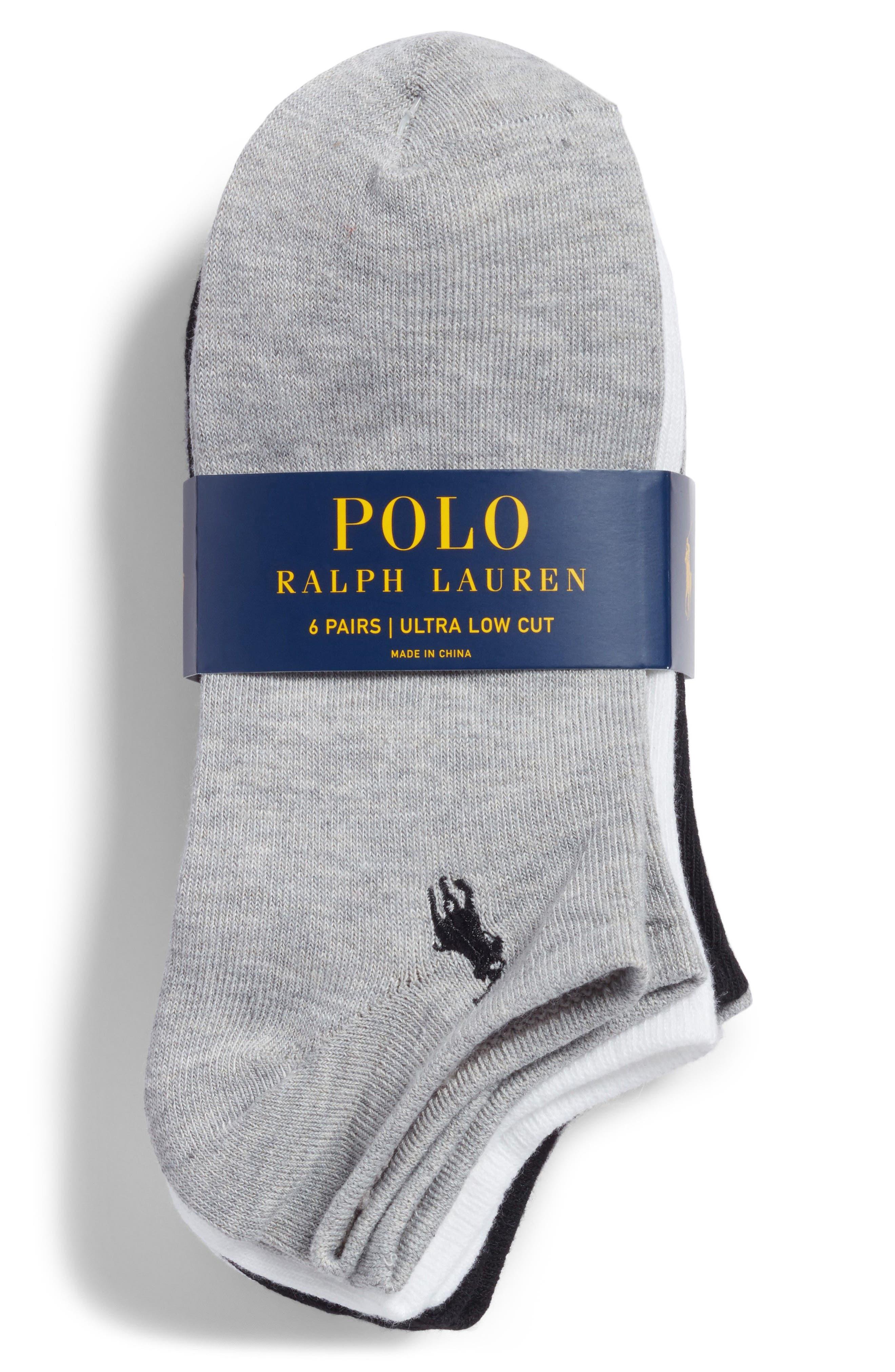 6-Pack Ankle Socks,                             Alternate thumbnail 2, color,                             100