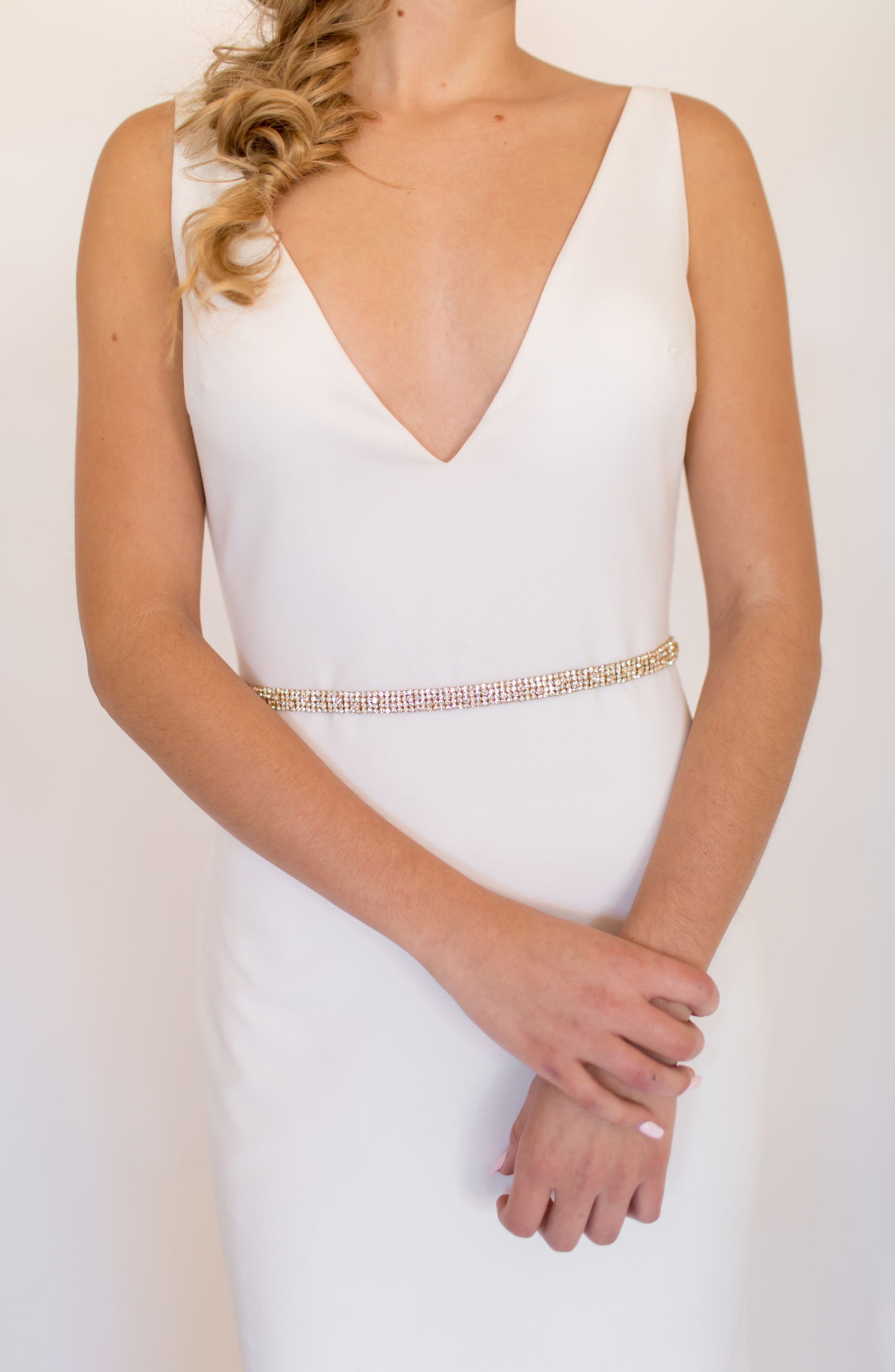 Untamed Petals By Amanda Judge June Crystal Belt, Size One Size - Gold