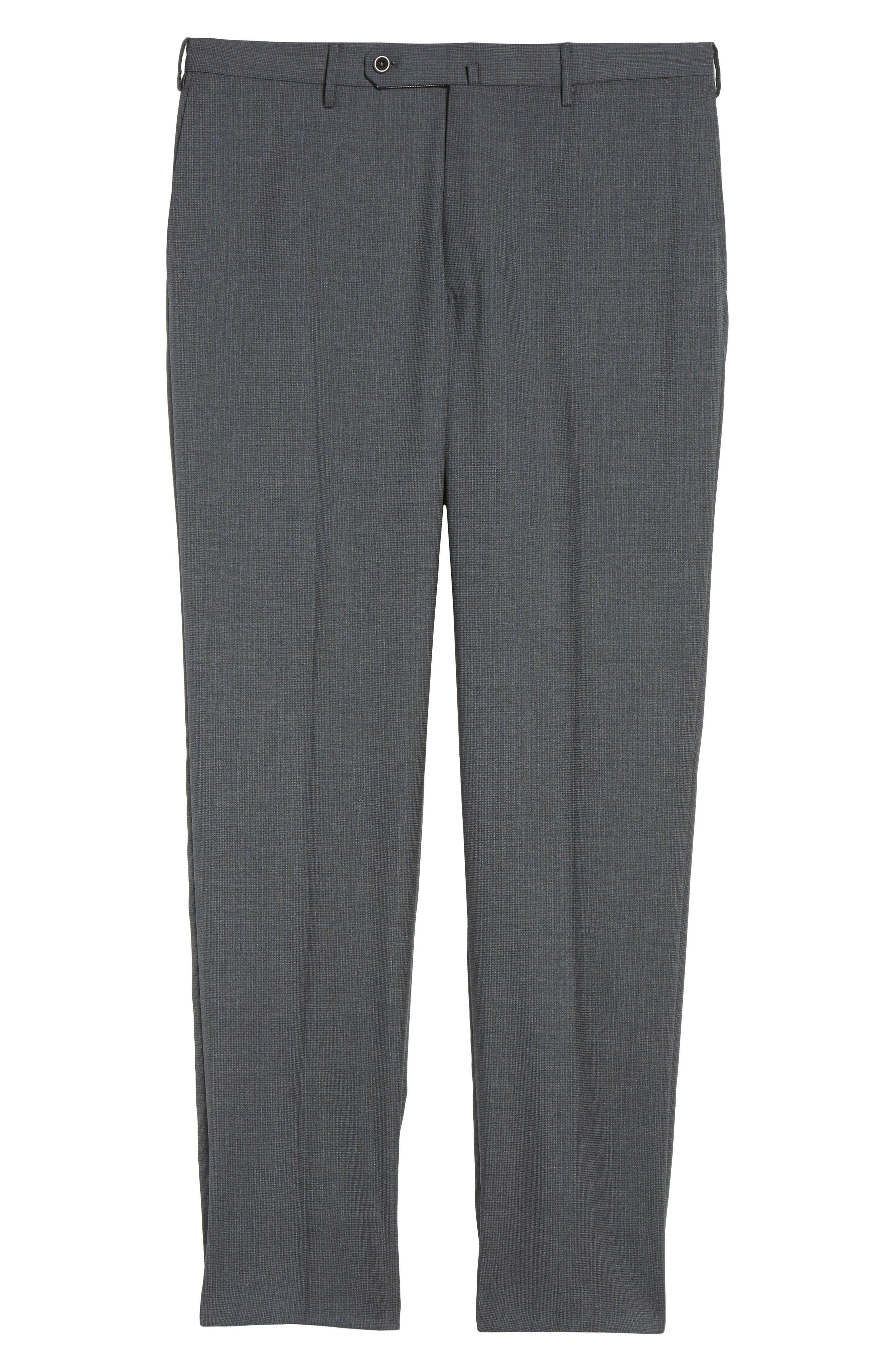 Benson Flat Front Wool Trousers,                             Alternate thumbnail 6, color,                             015