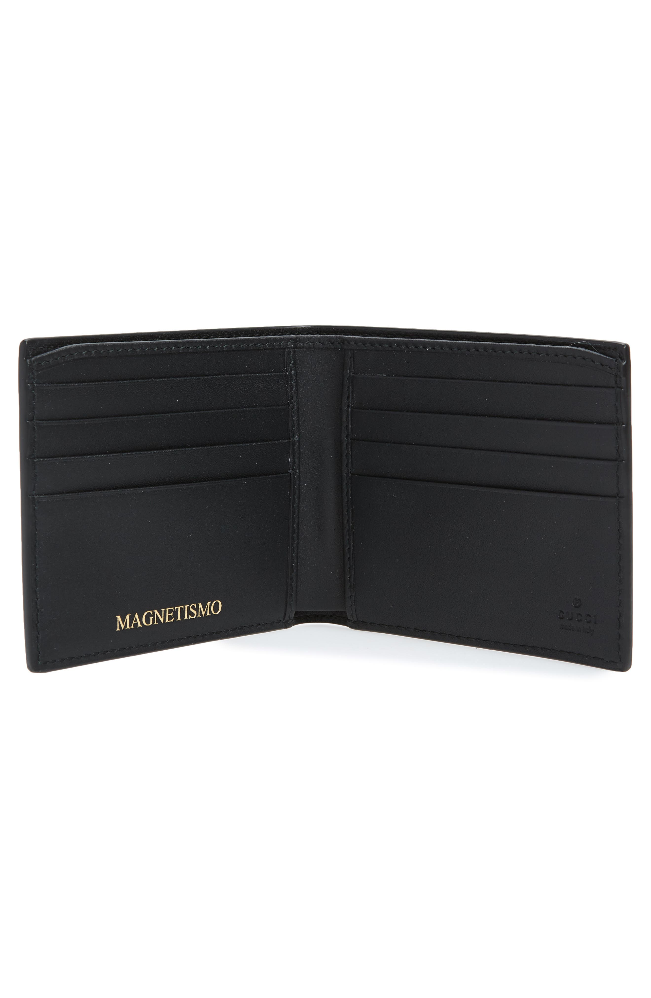 Print Leather Wallet,                             Alternate thumbnail 2, color,                             001