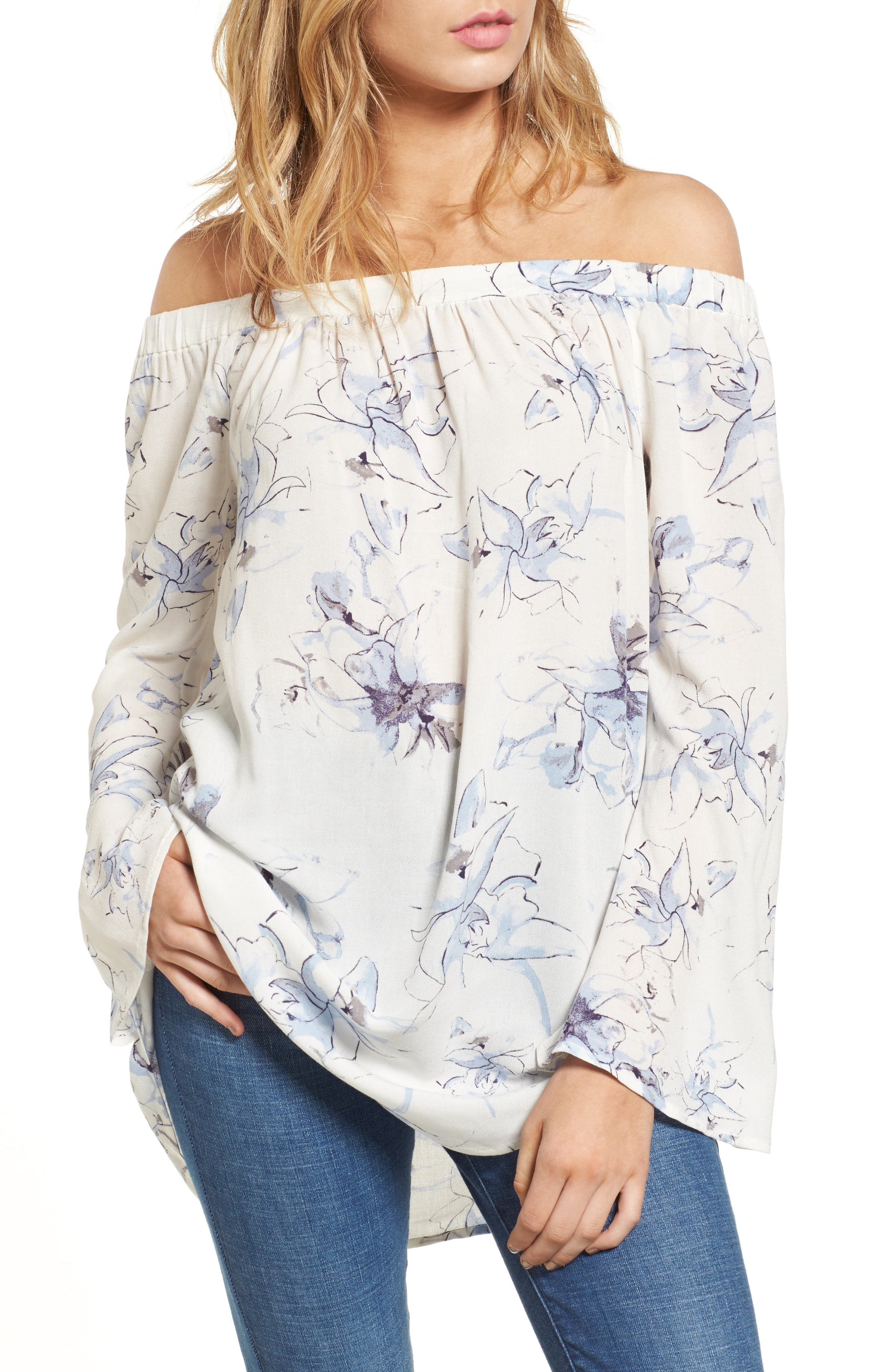 Off the Shoulder Tunic,                             Main thumbnail 7, color,