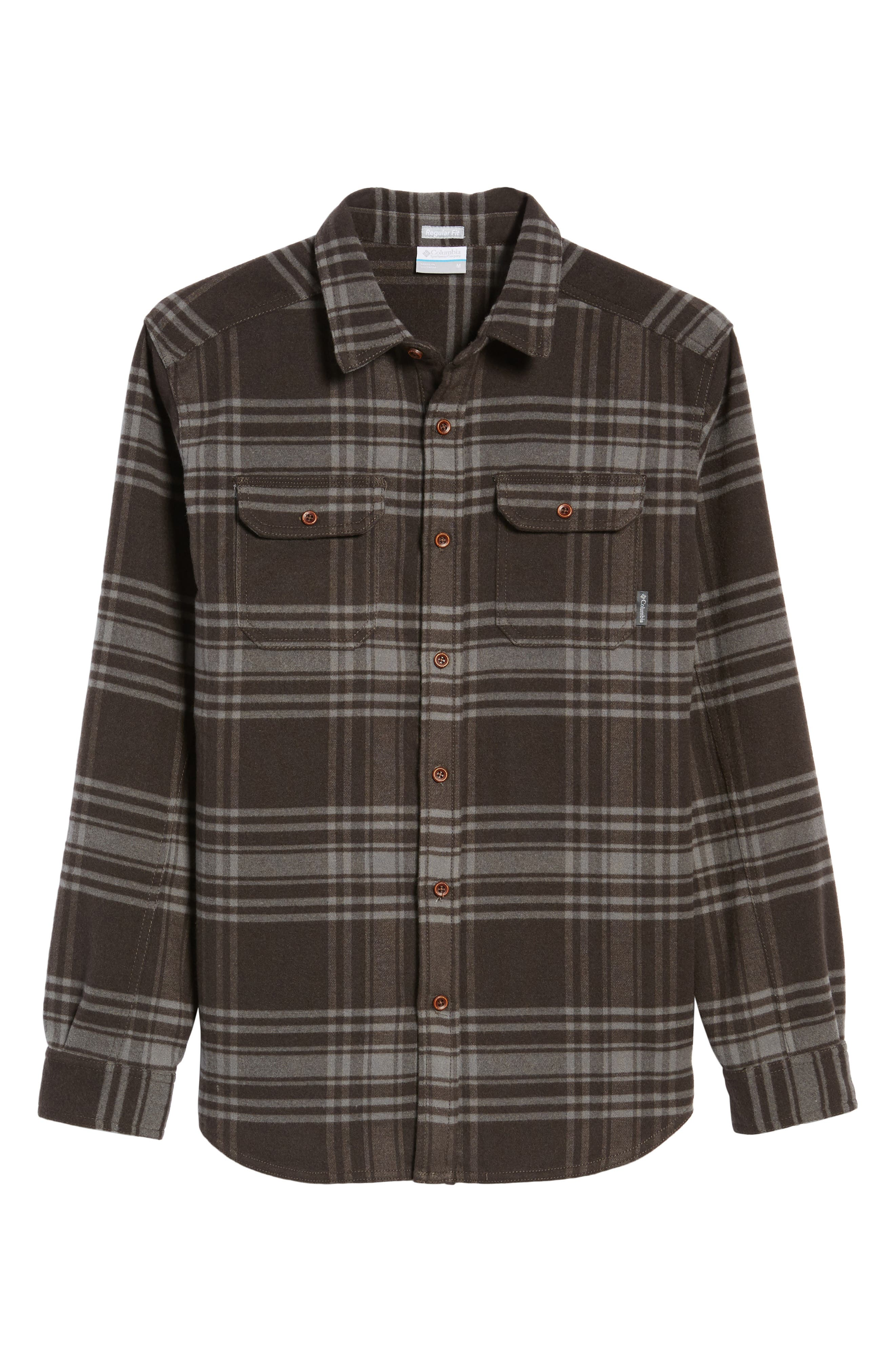 Deschutes River<sup>™</sup> Heavyweight Flannel Shirt Jacket,                             Alternate thumbnail 5, color,                             200