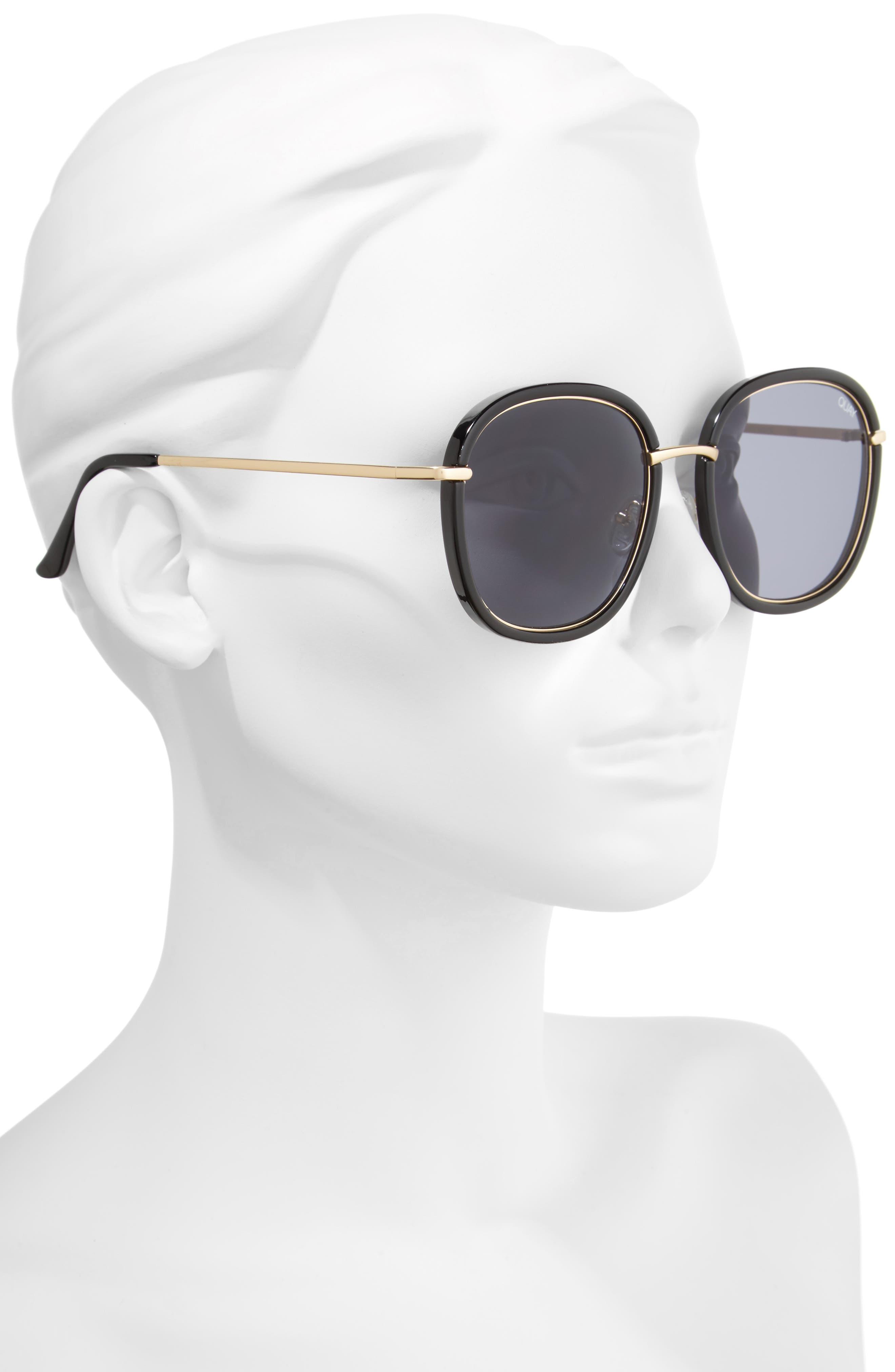 Dreamy Ways 57mm Rectangular Sunglasses,                             Alternate thumbnail 3, color,