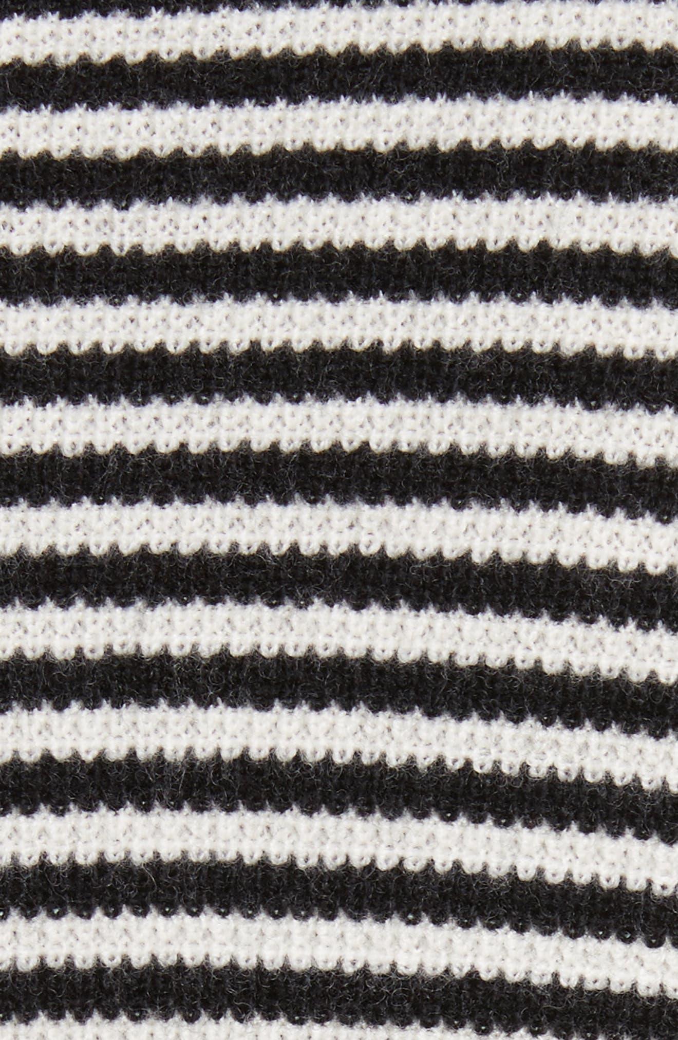 Stripe Waffle Knit Wool Sweater,                             Alternate thumbnail 5, color,                             006