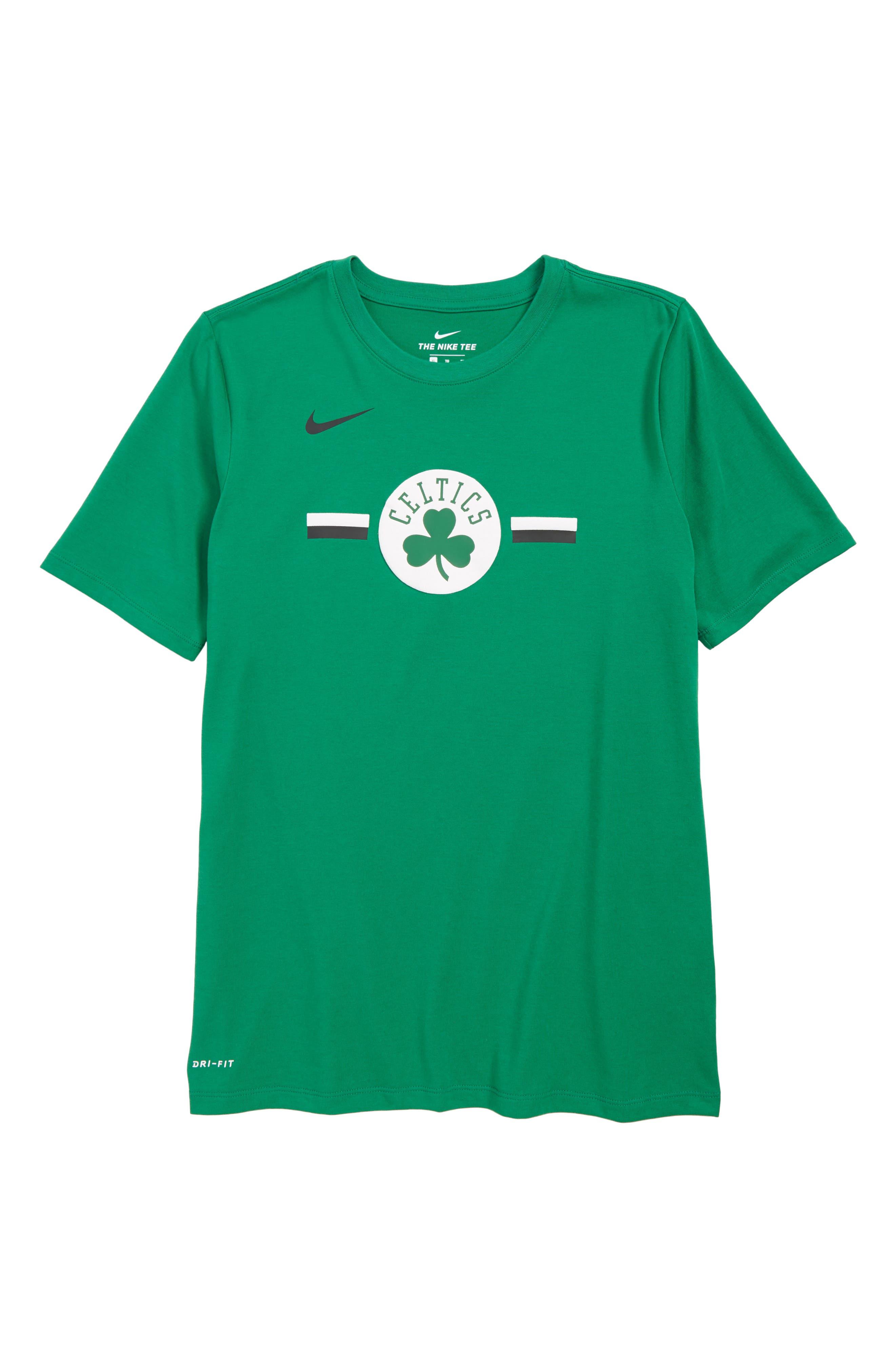 Boston Celtics Dri-FIT T-Shirt,                             Main thumbnail 1, color,                             CLOVER