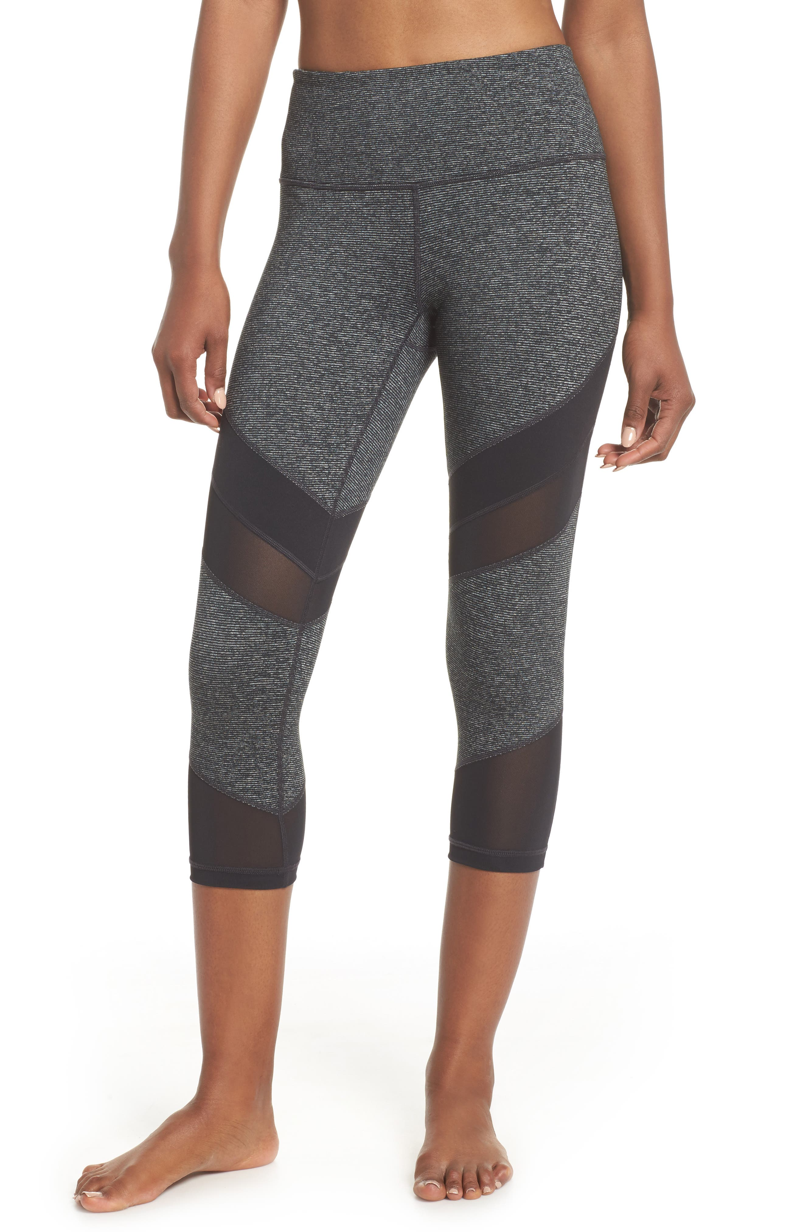 Live In Electric Mix Power Mesh Crop Leggings,                         Main,                         color, 001