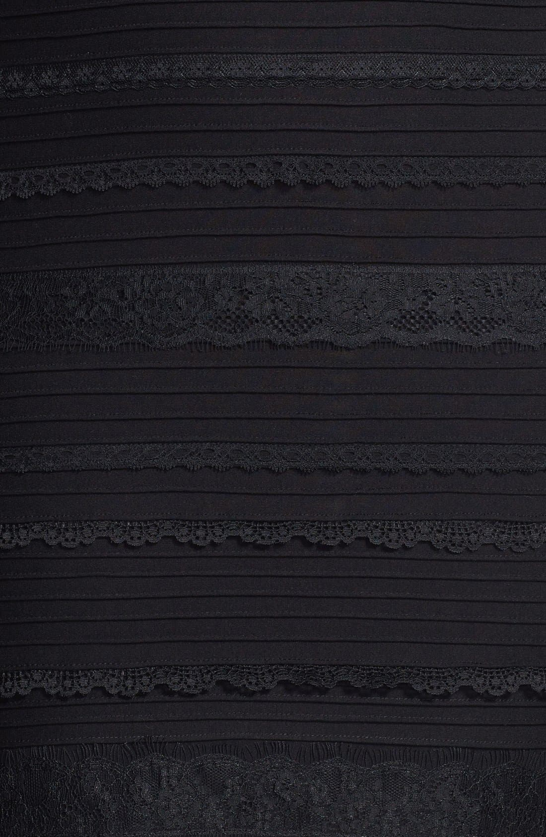 Lace Trim Banded Sheath Dress,                             Alternate thumbnail 2, color,                             001
