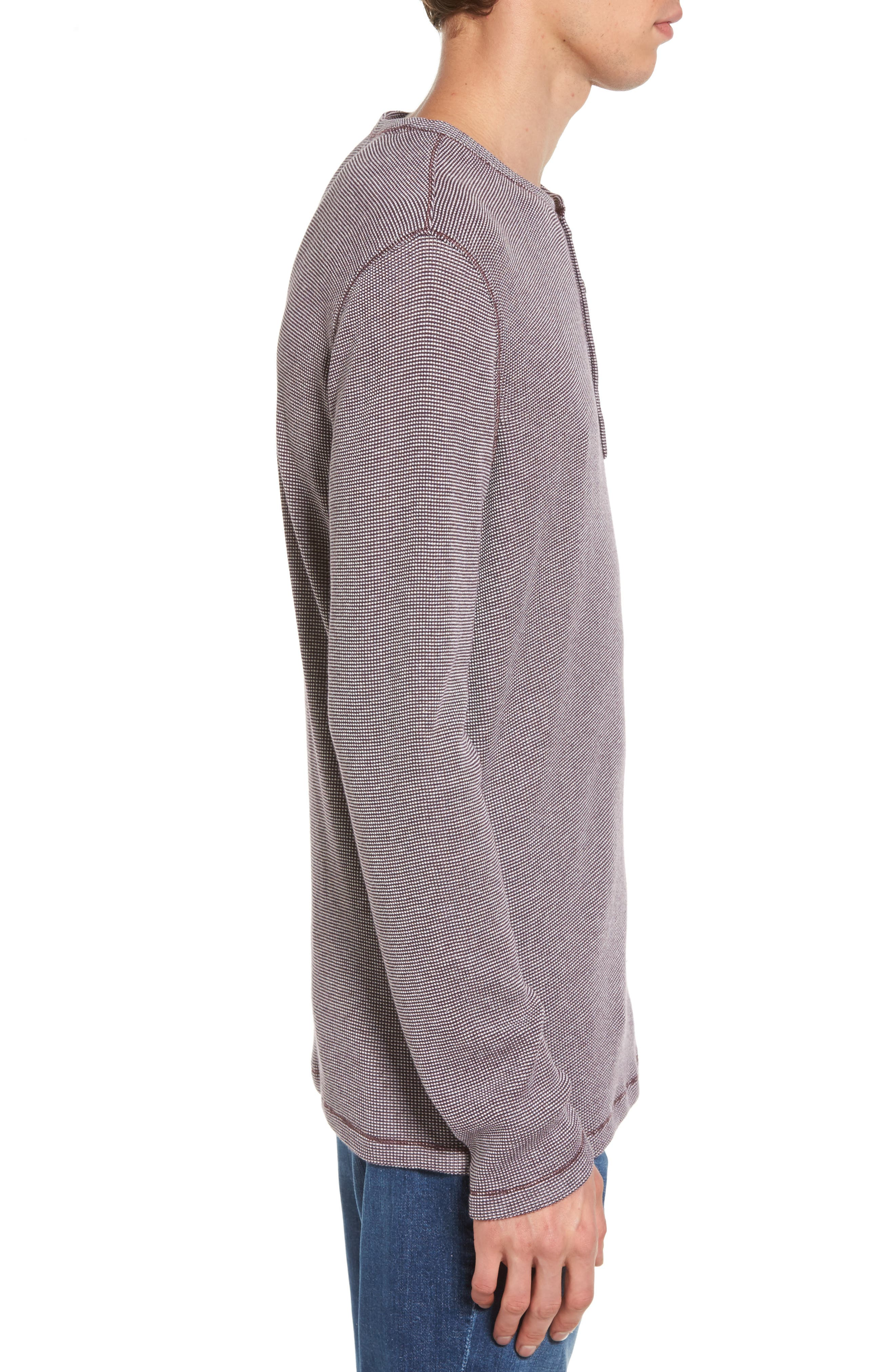 Waffle Knit Henley,                             Alternate thumbnail 6, color,