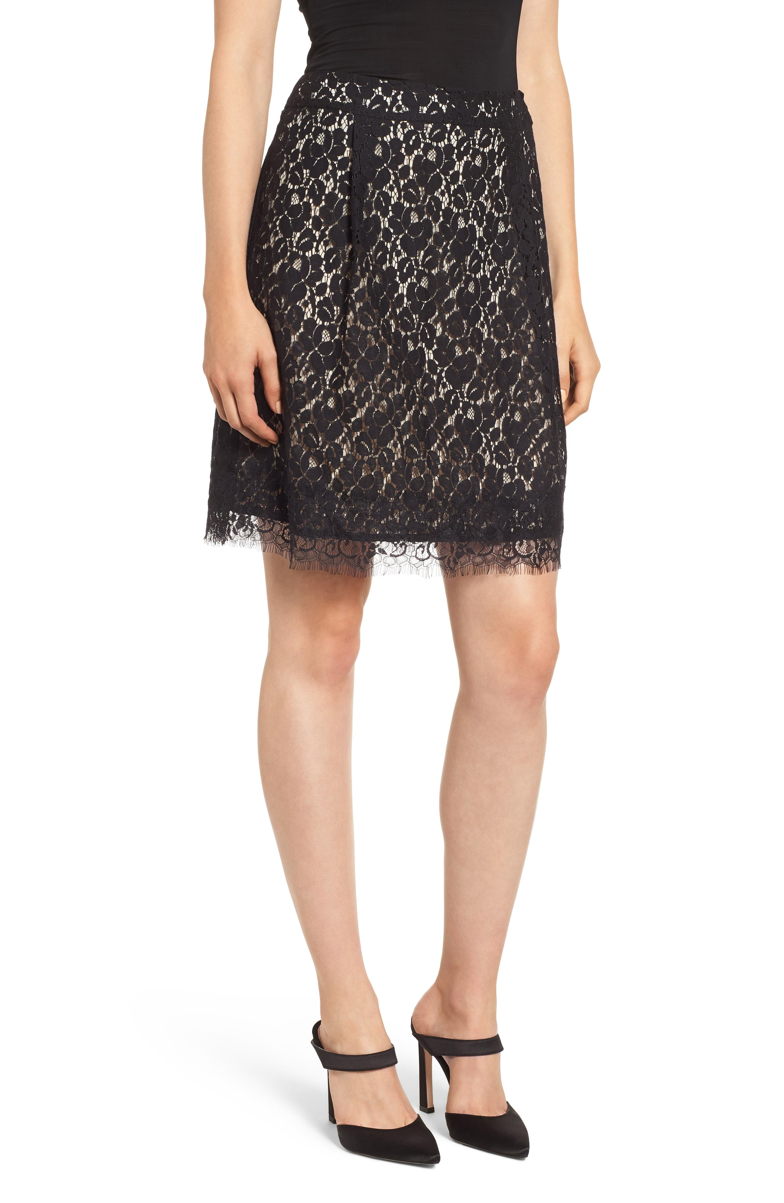 GIBSON x Glam Squad Lace Skirt, Main, color, 017