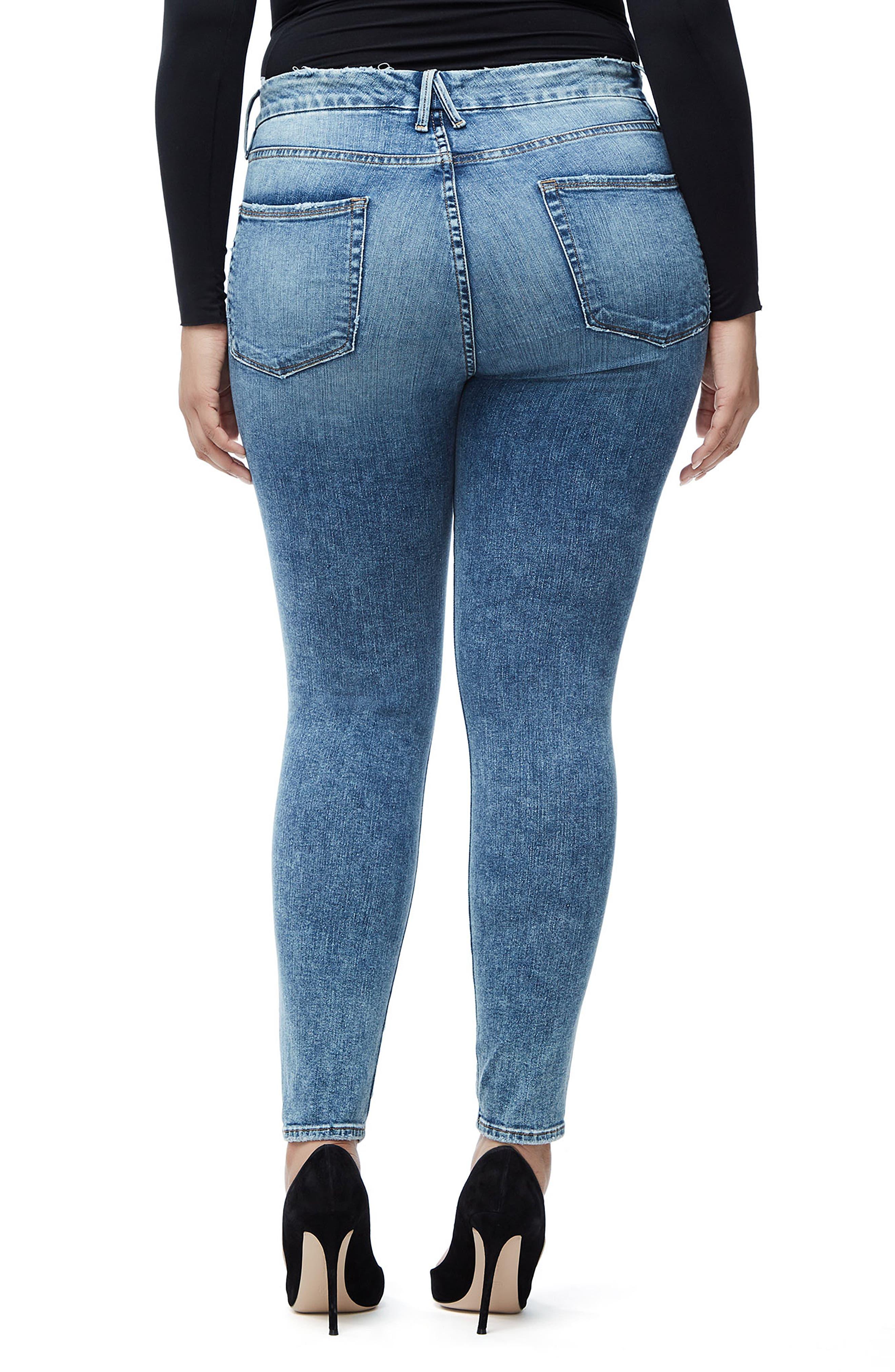 Good Legs High Waist Skinny Jeans,                             Alternate thumbnail 9, color,                             BLUE129