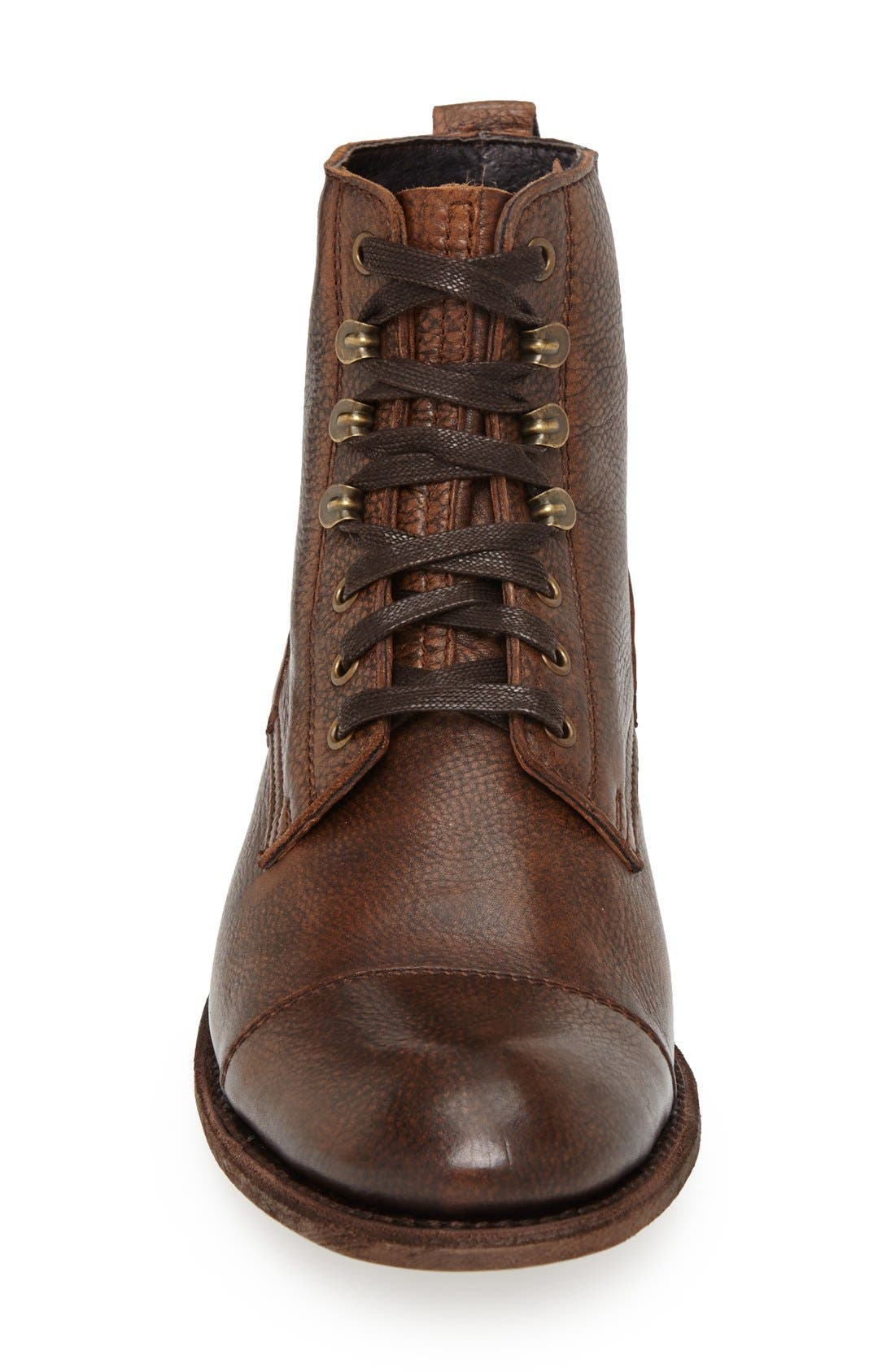 'Station' Cap Toe Boot,                             Alternate thumbnail 3, color,                             200