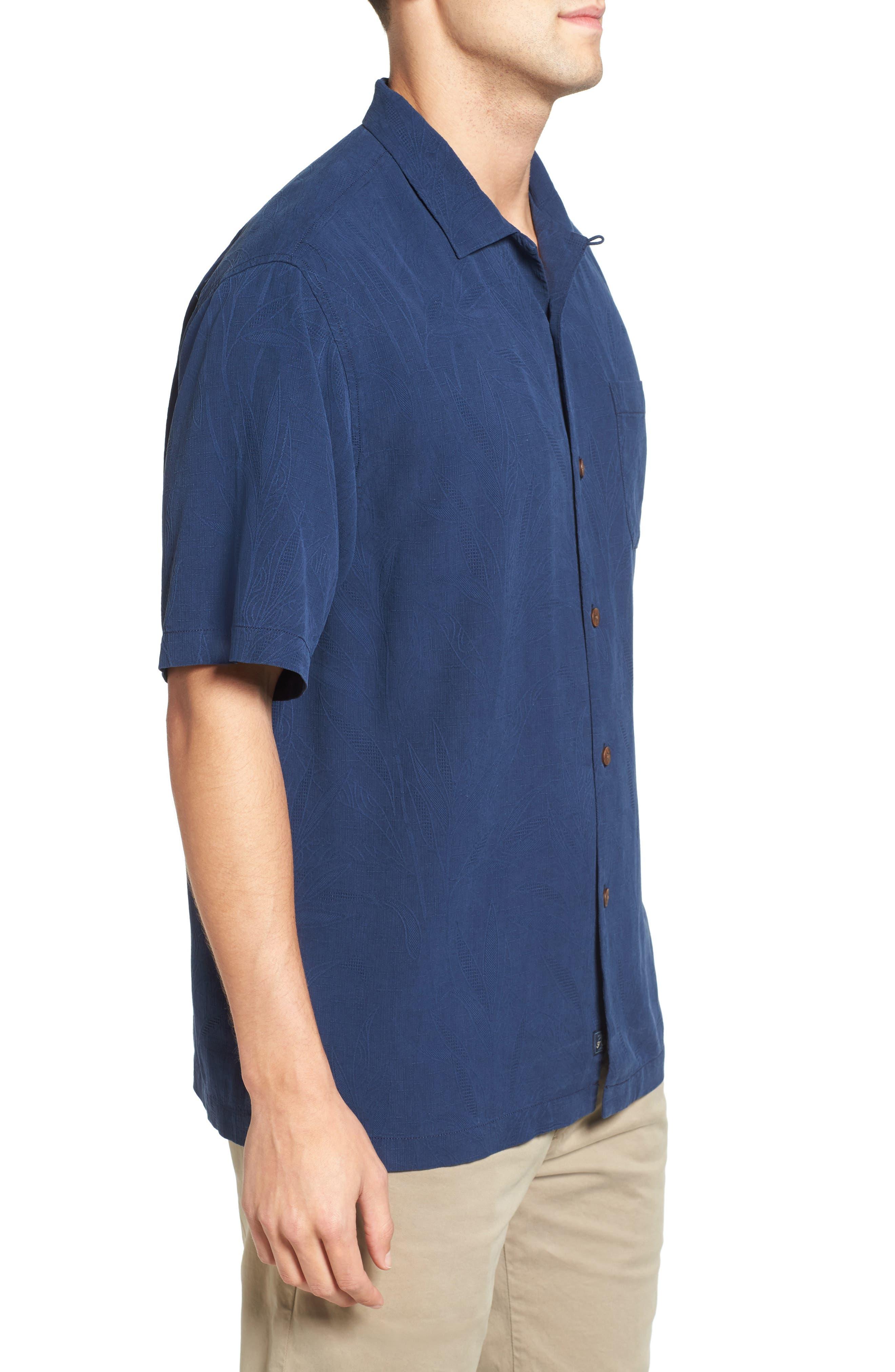 Islander Fronds Silk Camp Shirt,                             Alternate thumbnail 25, color,