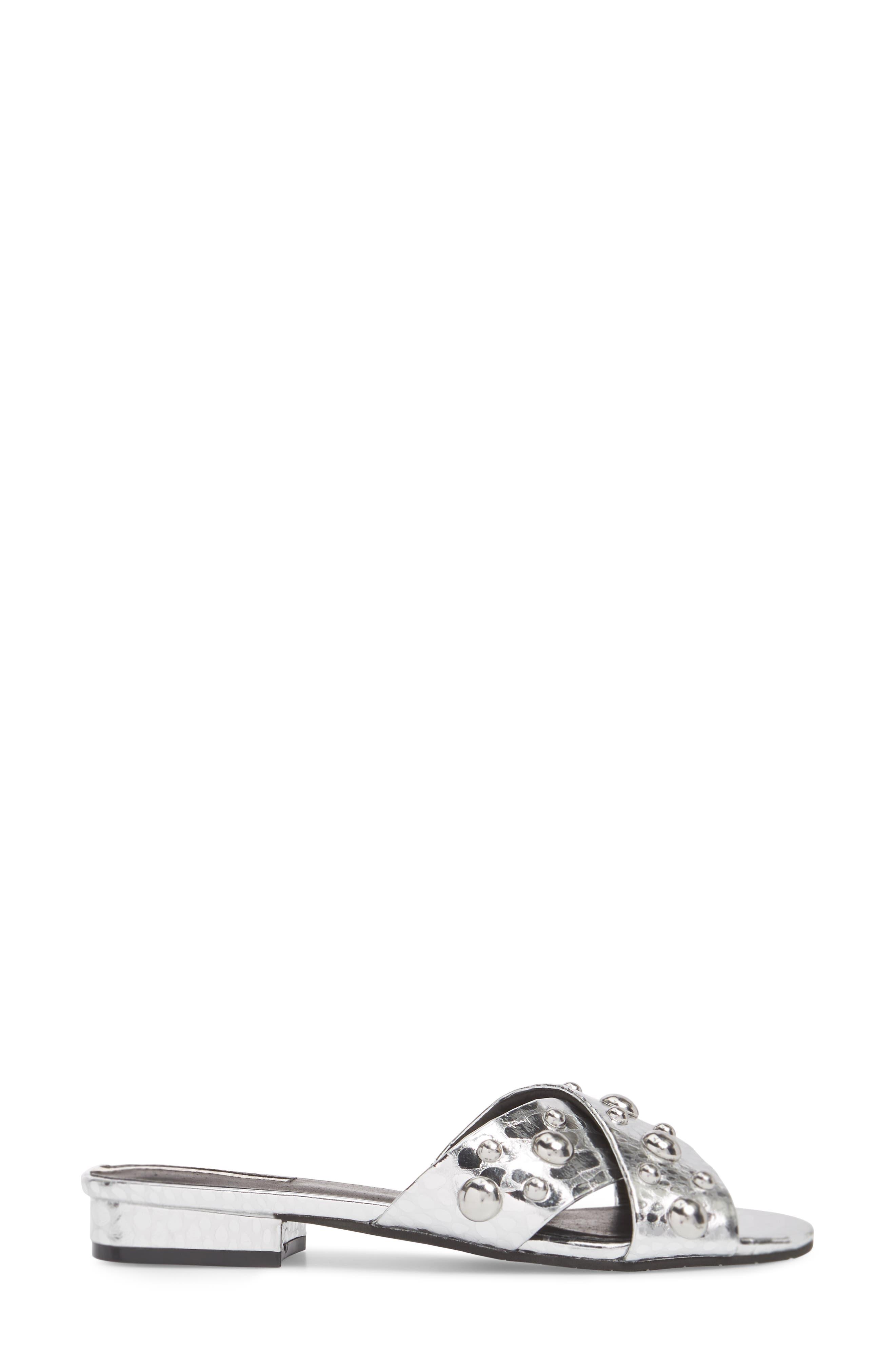 Verna Studded Slide Sandal,                             Alternate thumbnail 8, color,