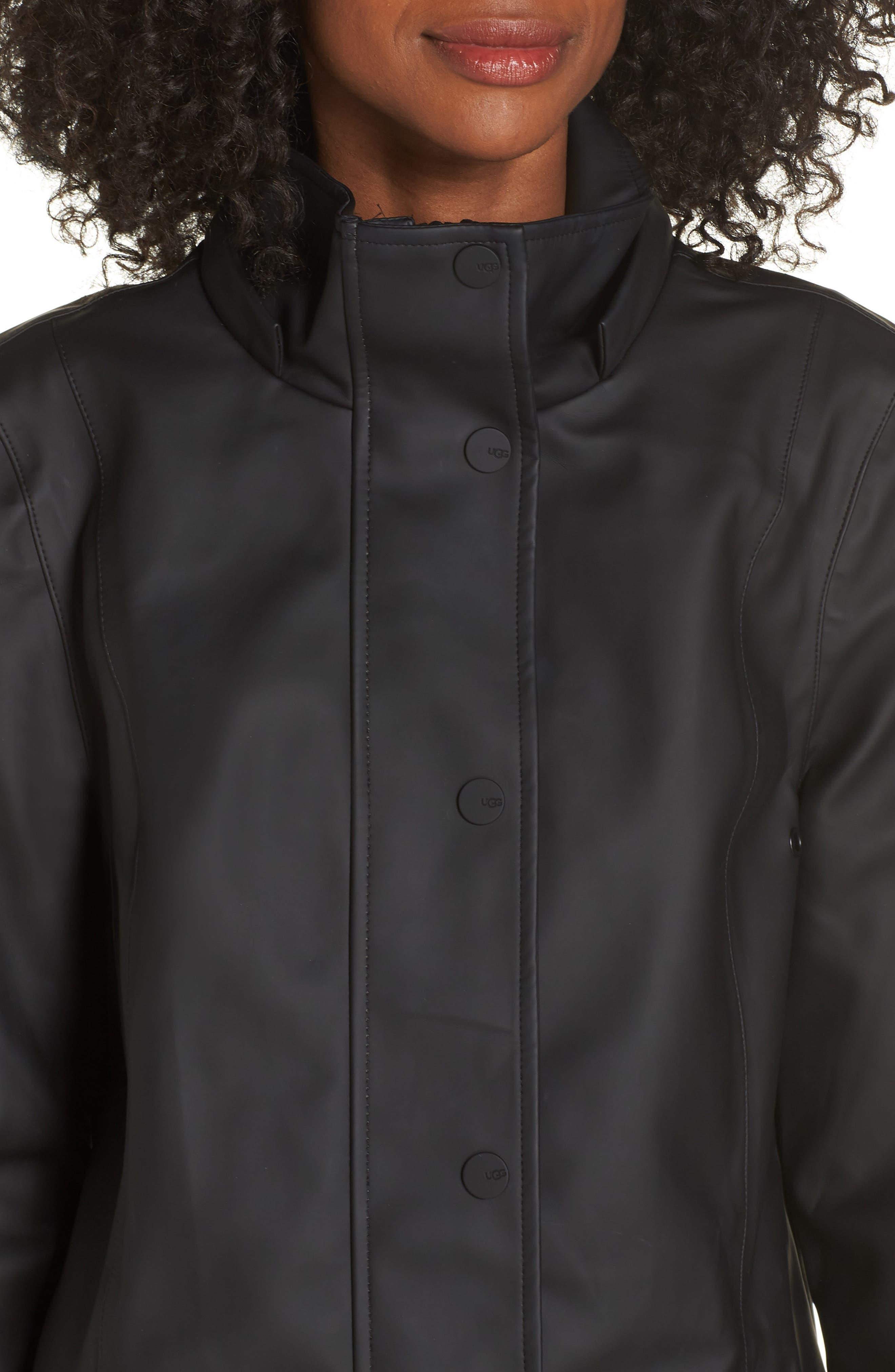 UGG<SUP>®</SUP>,                             Rylie Rain Jacket,                             Alternate thumbnail 4, color,                             001